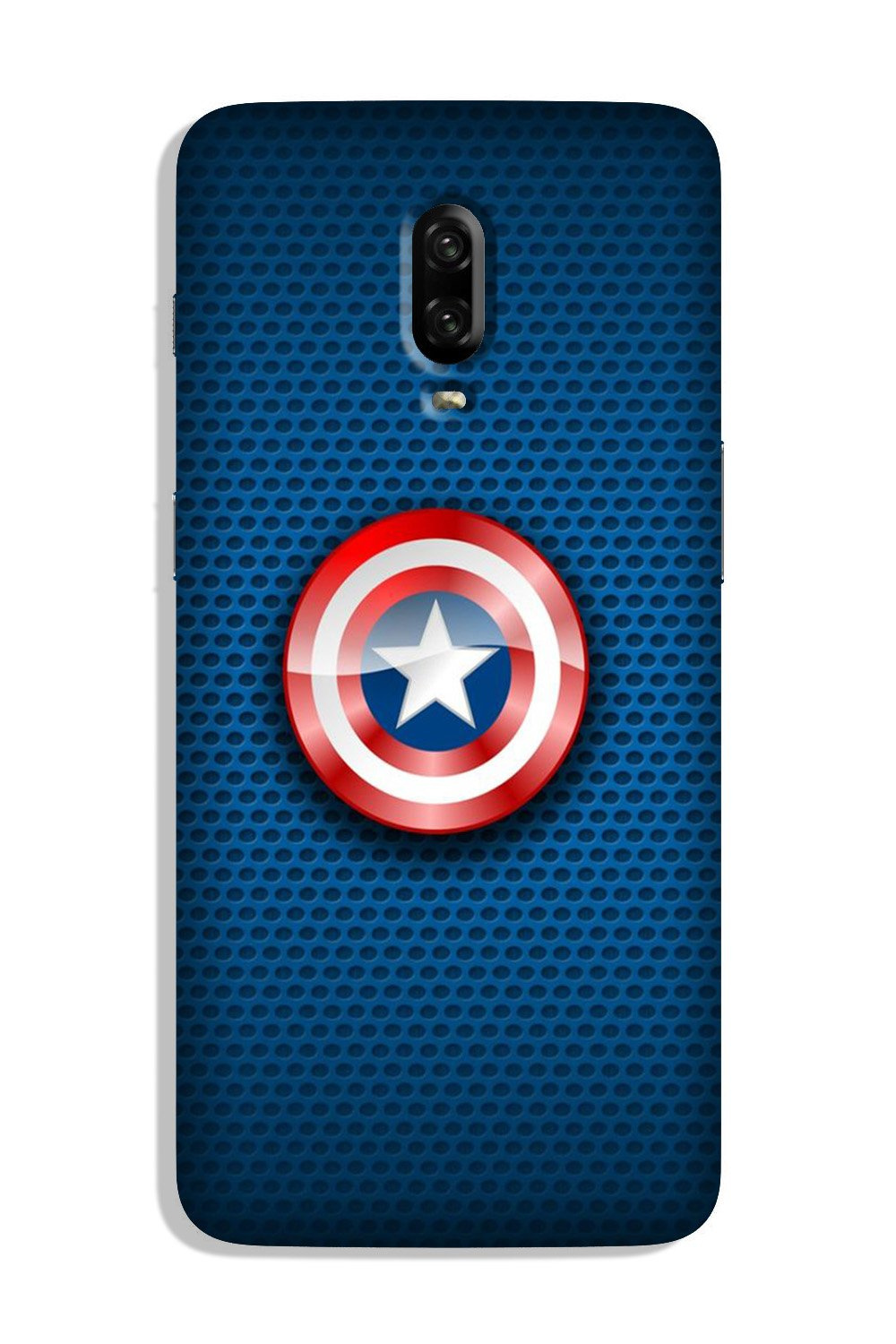 Captain America Shield Case for OnePlus 6T (Design No. 253)