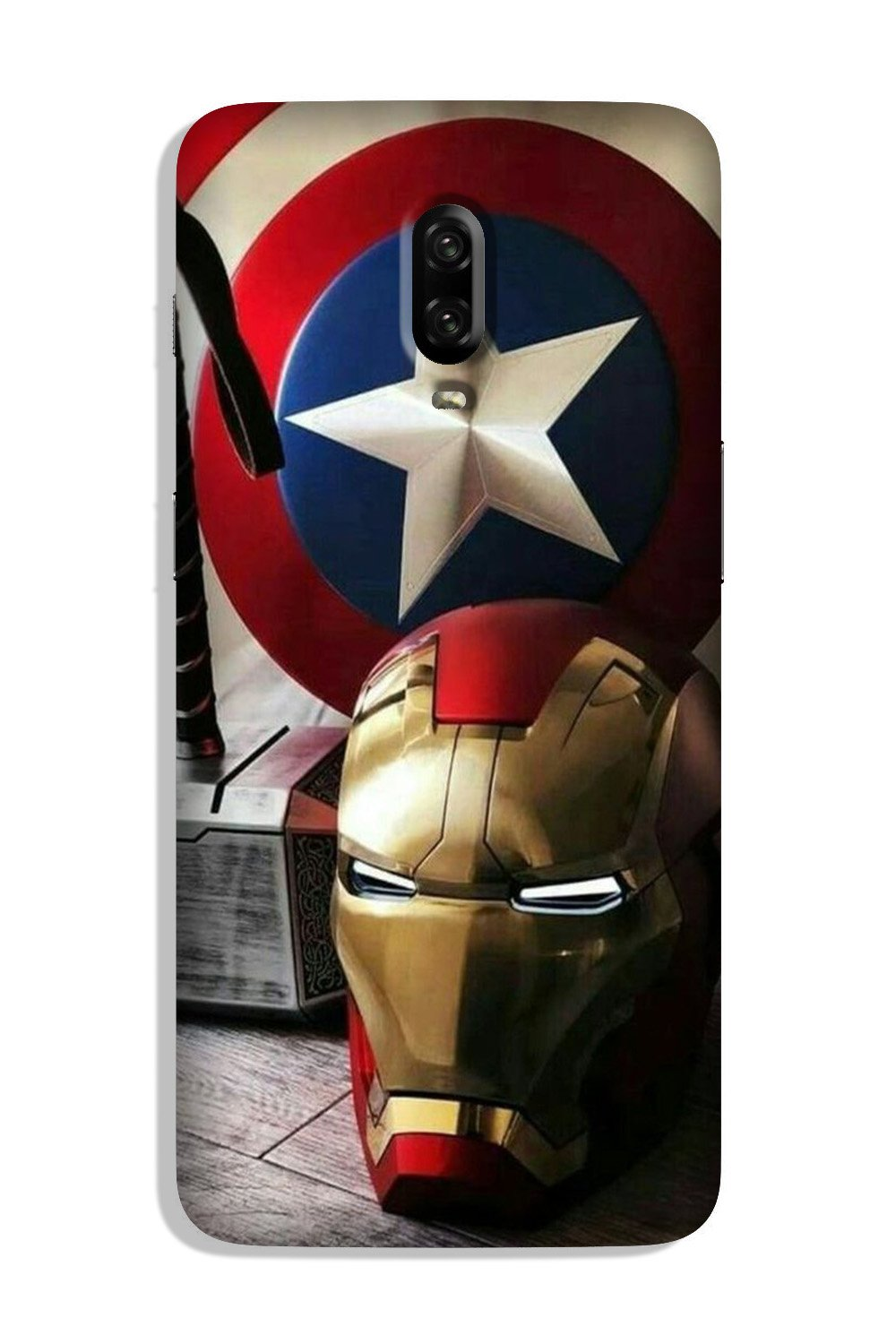 Ironman Captain America Case for OnePlus 6T (Design No. 254)