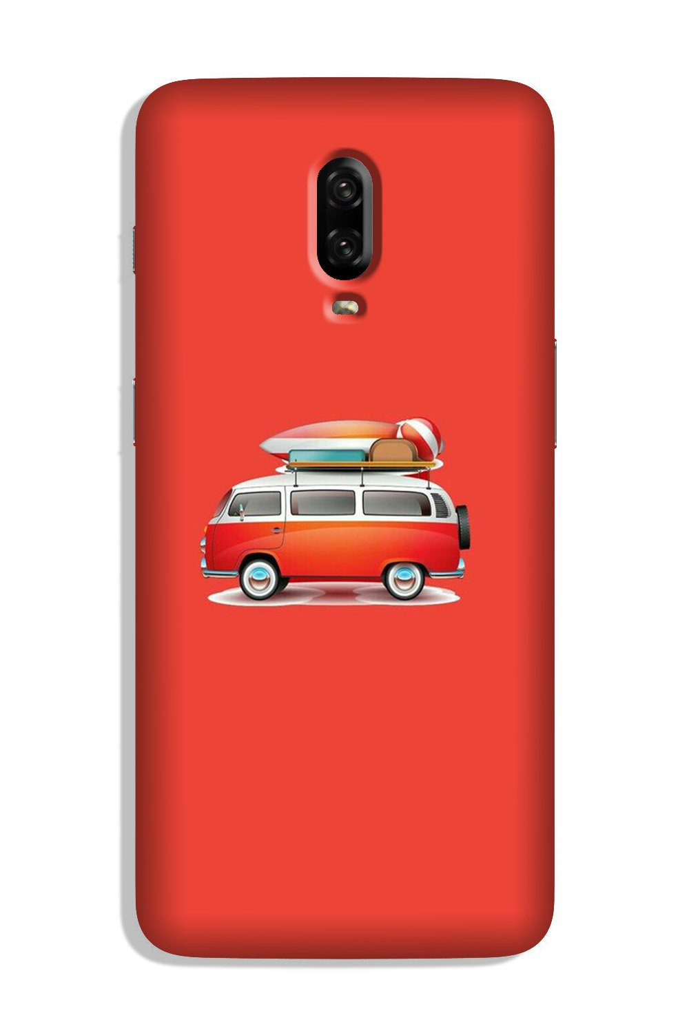 Travel Bus Case for OnePlus 6T (Design No. 258)