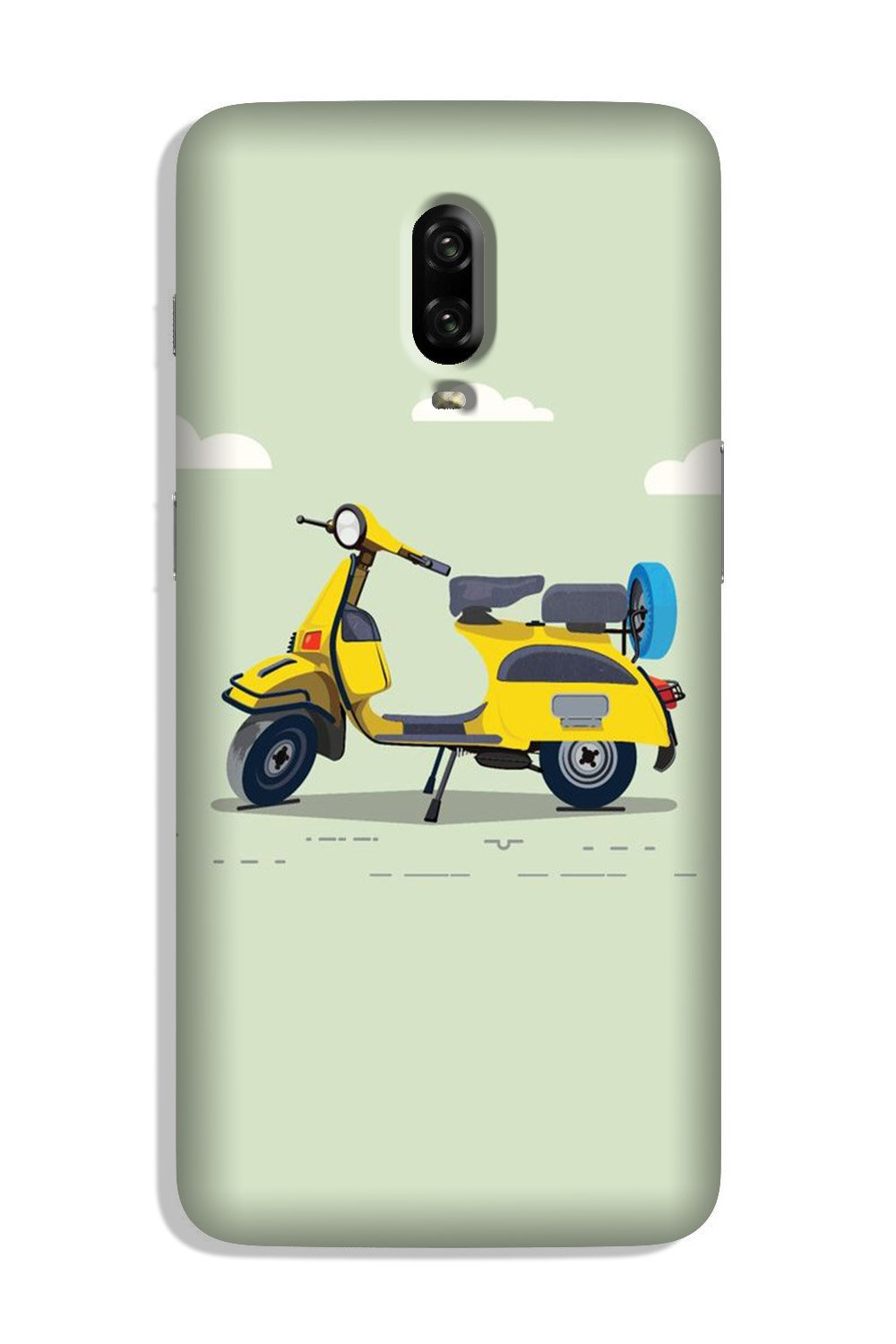 Vintage Scooter Case for OnePlus 6T (Design No. 260)