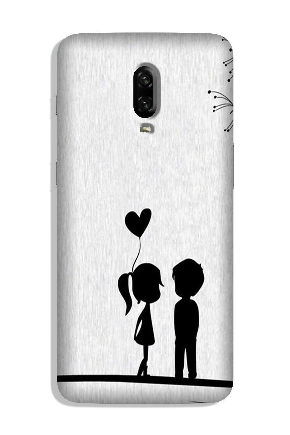 Cute Kid Couple Case for OnePlus 6T (Design No. 283)