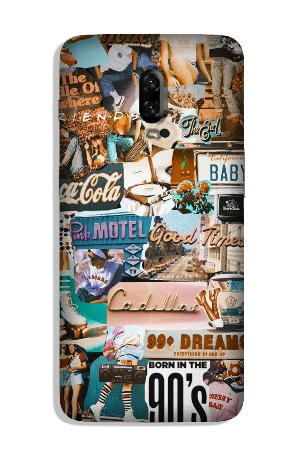 Vintage Design Case for OnePlus 6T (Design No. 284)