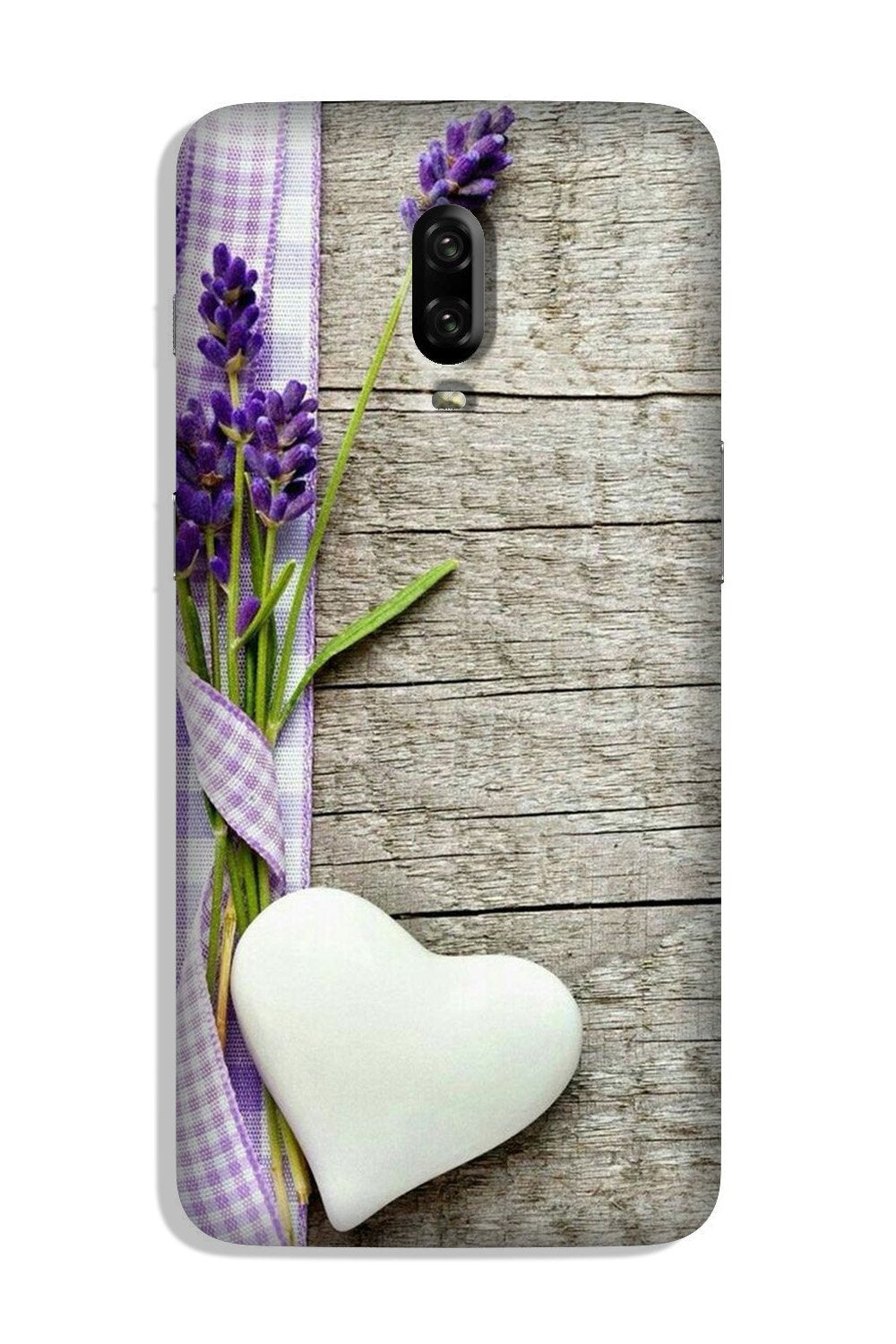 White Heart Case for OnePlus 6T (Design No. 298)