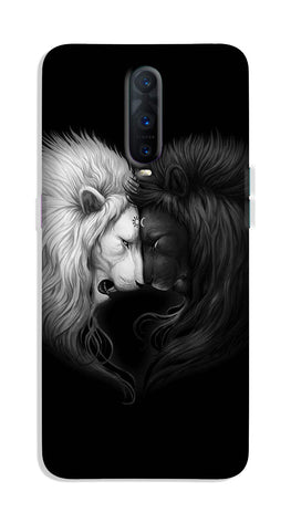 Dark White Lion Case for OnePlus 7 Pro  (Design - 140)