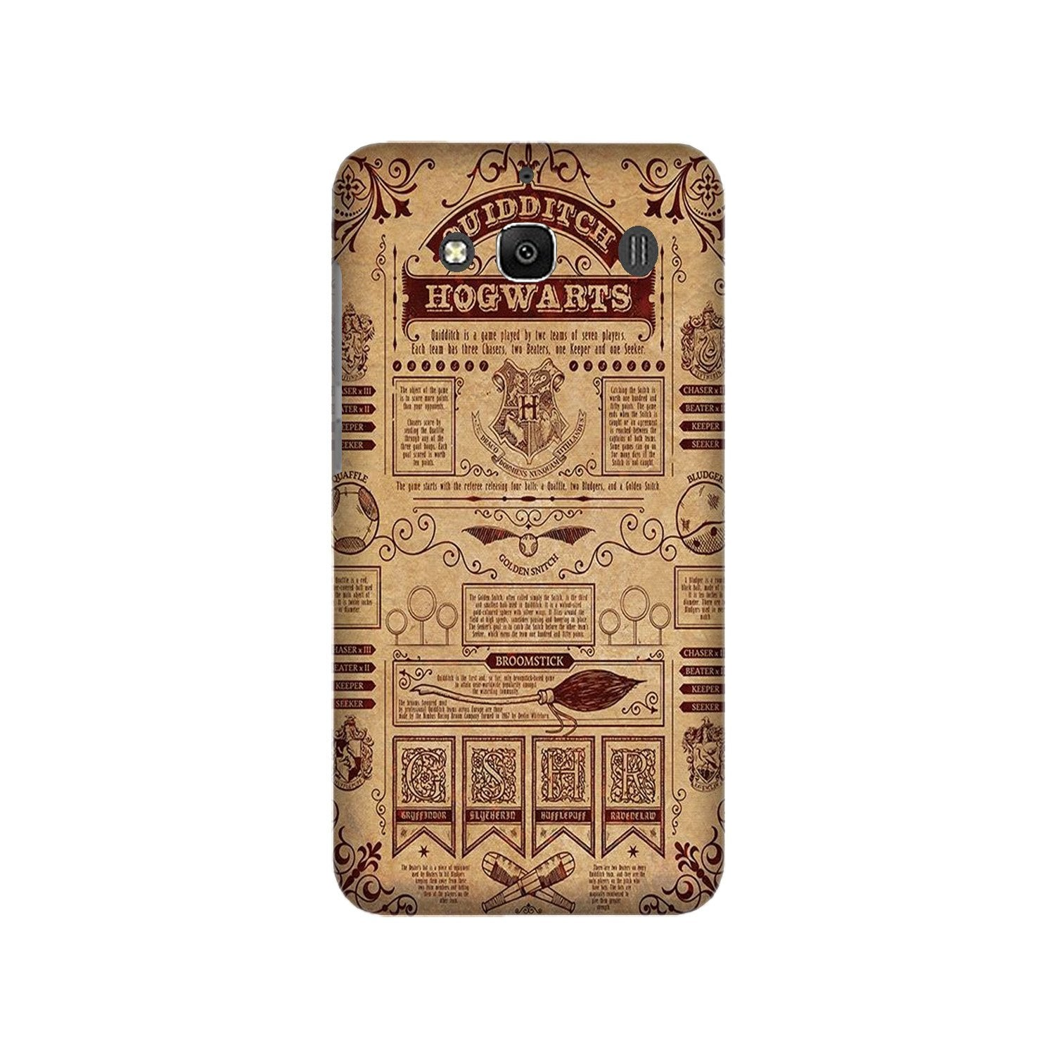Hogwarts Mobile Back Case for Redmi 2 Prime  (Design - 304)