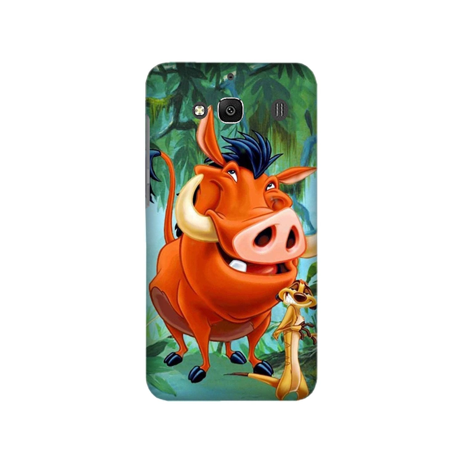 Timon and Pumbaa Mobile Back Case for Redmi 2 Prime  (Design - 305)
