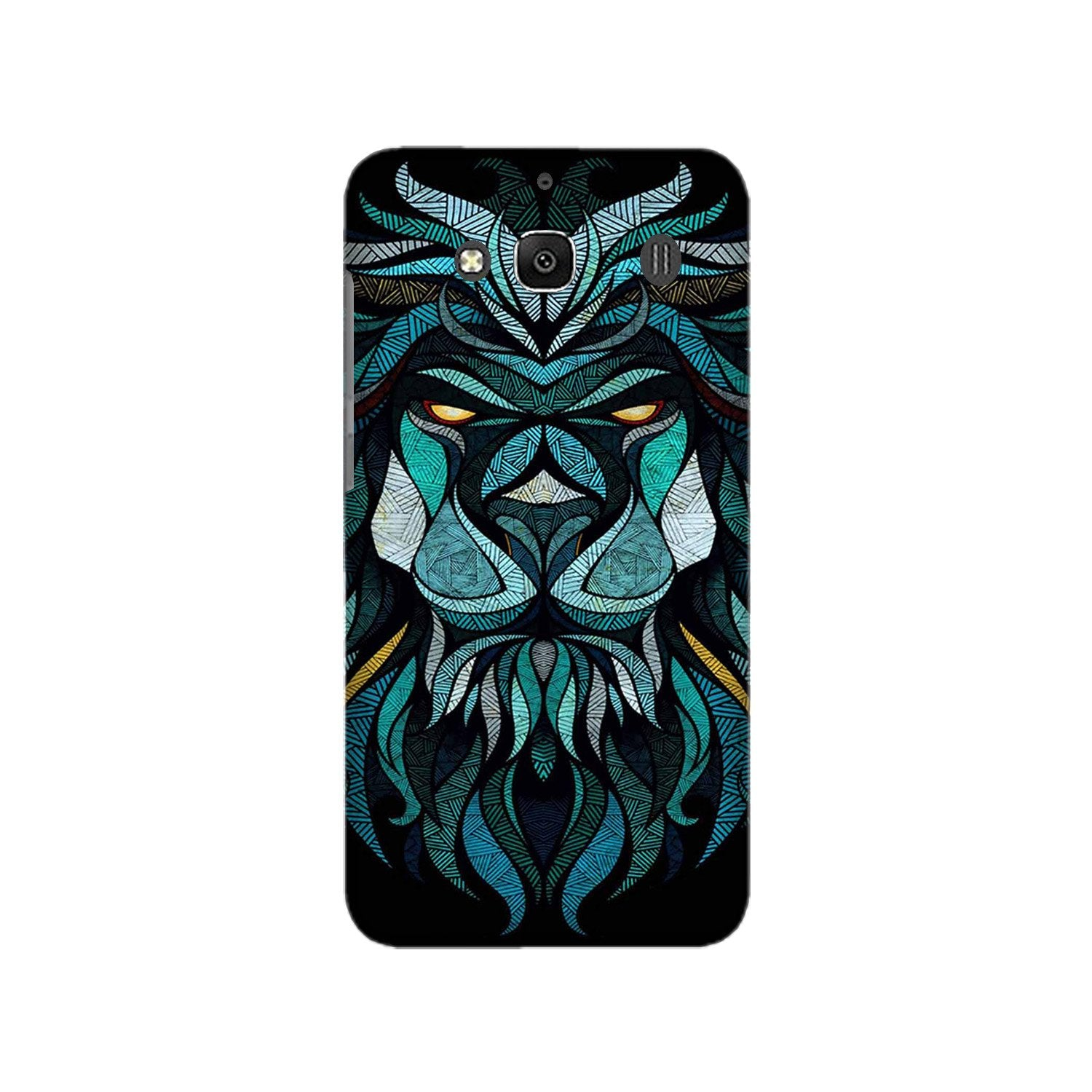 Lion Mobile Back Case for Redmi 2 Prime  (Design - 314)