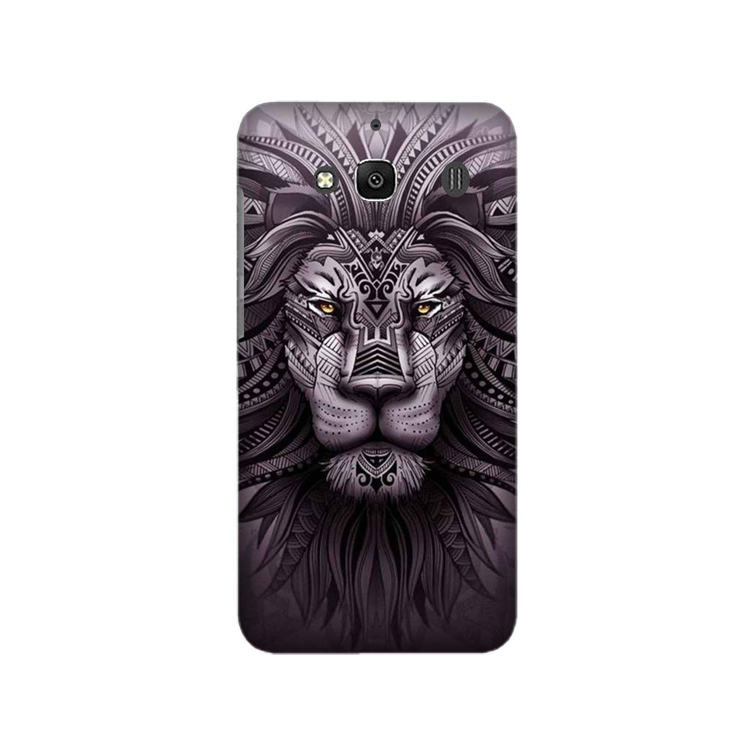 Lion Mobile Back Case for Redmi 2 Prime  (Design - 315)