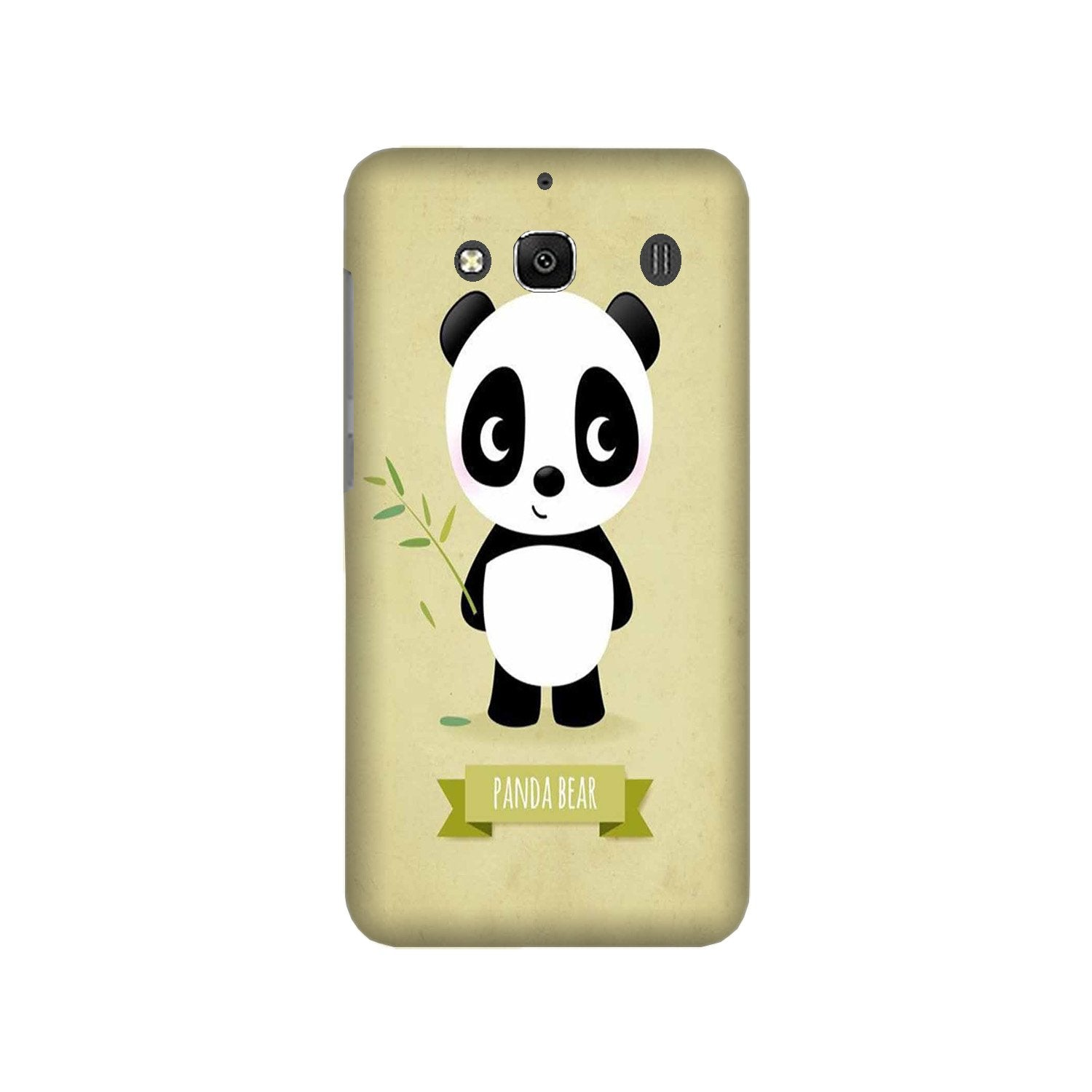 Panda Bear Mobile Back Case for Redmi 2 Prime  (Design - 317)