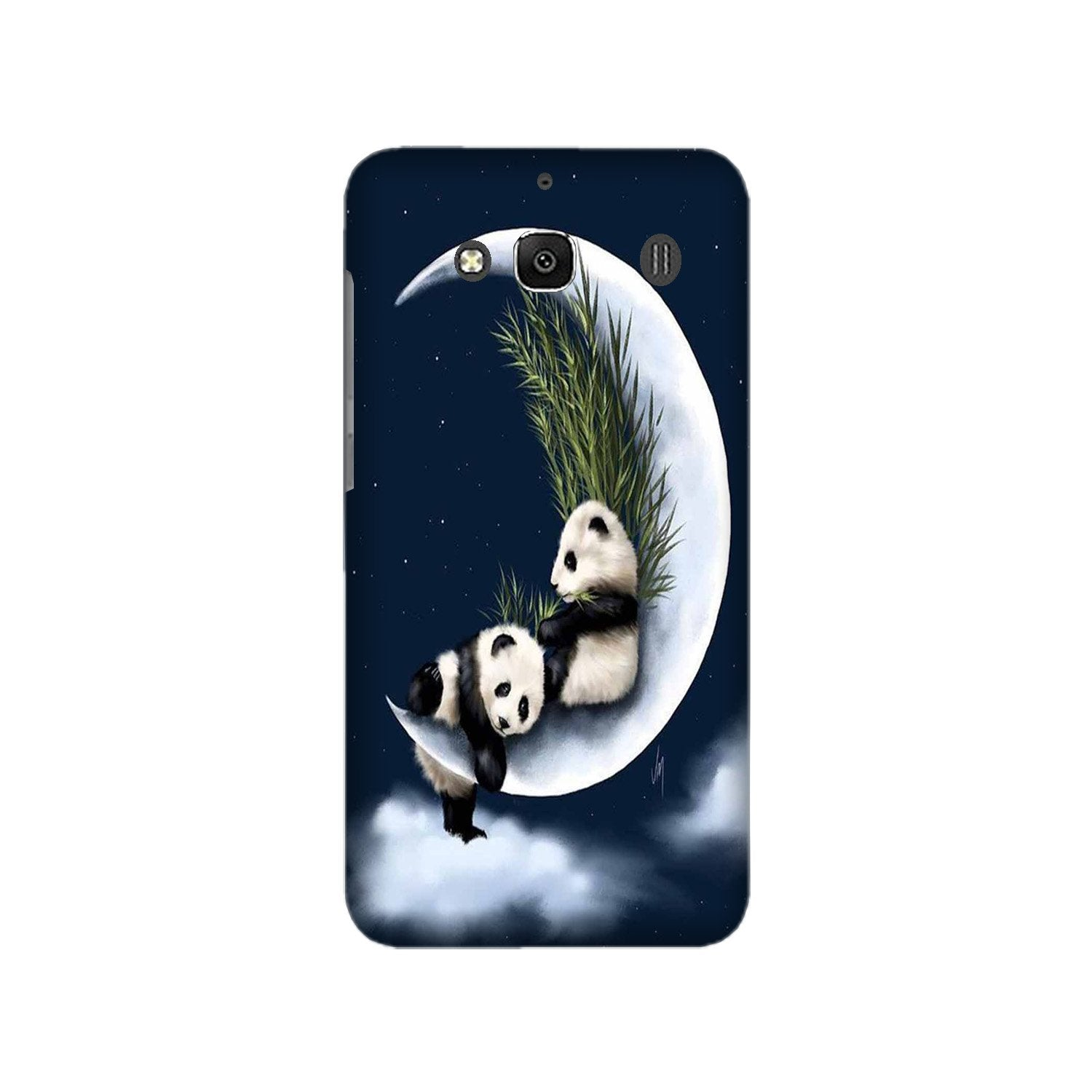 Panda Moon Mobile Back Case for Redmi 2 Prime  (Design - 318)
