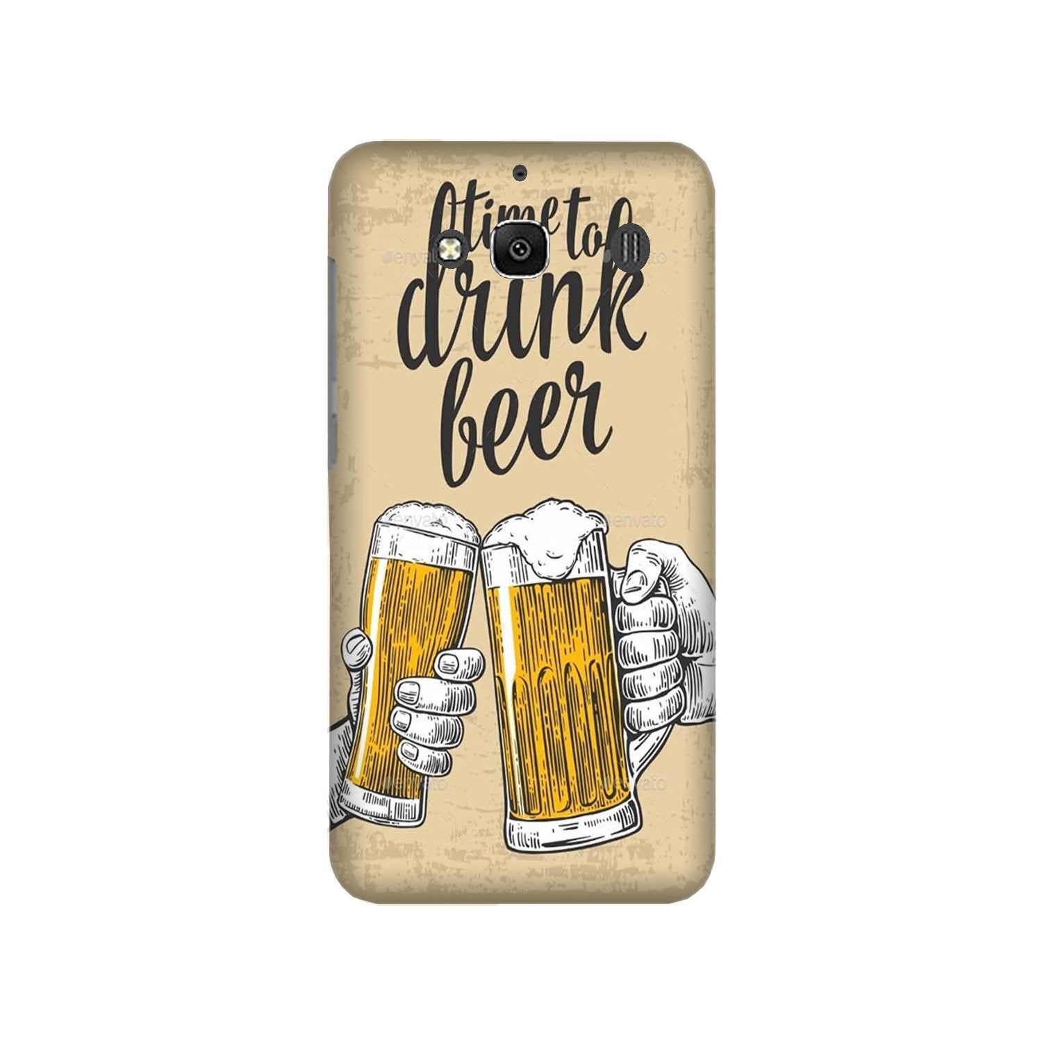 Drink Beer Mobile Back Case for Redmi 2 Prime  (Design - 328)