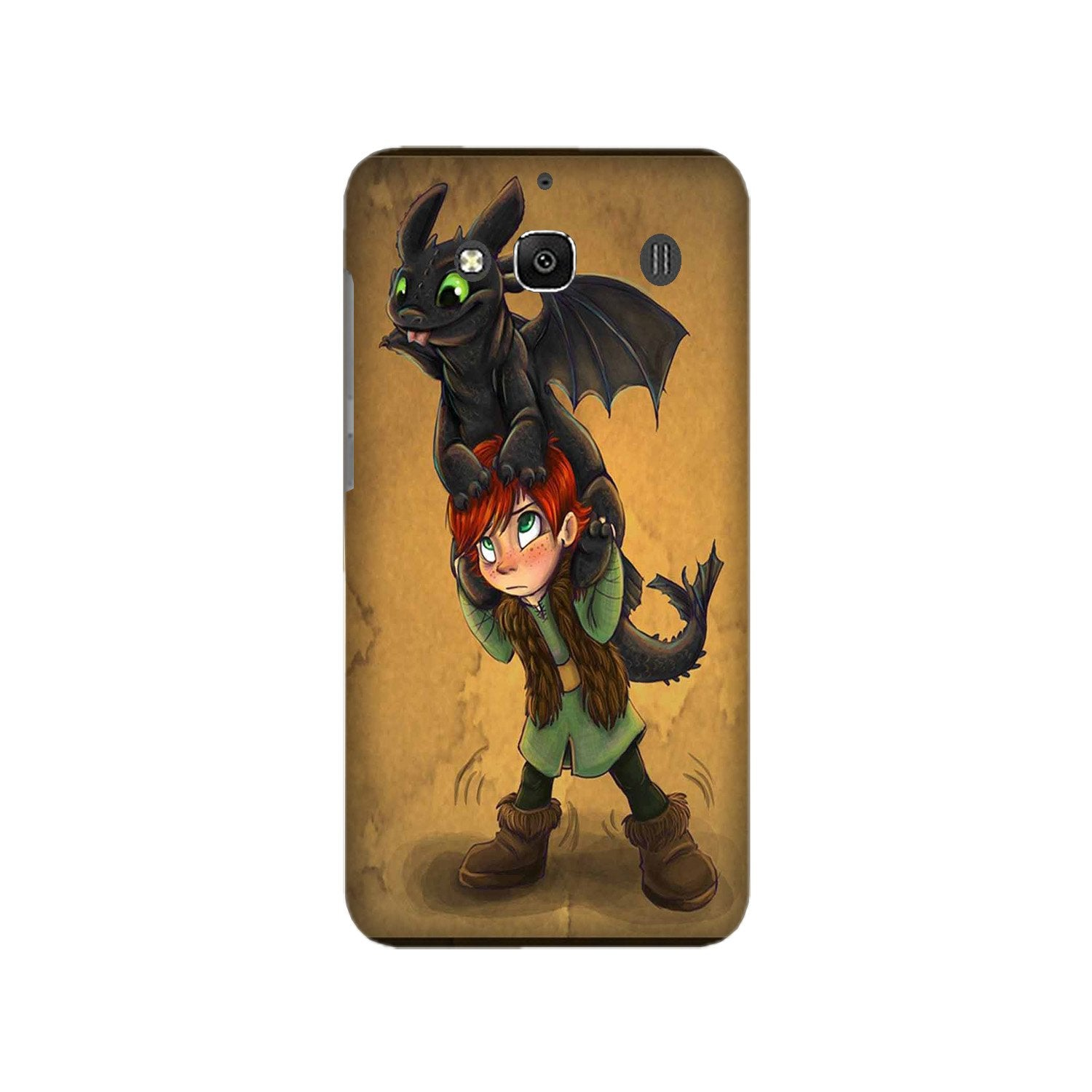 Dragon Mobile Back Case for Redmi 2 Prime  (Design - 336)