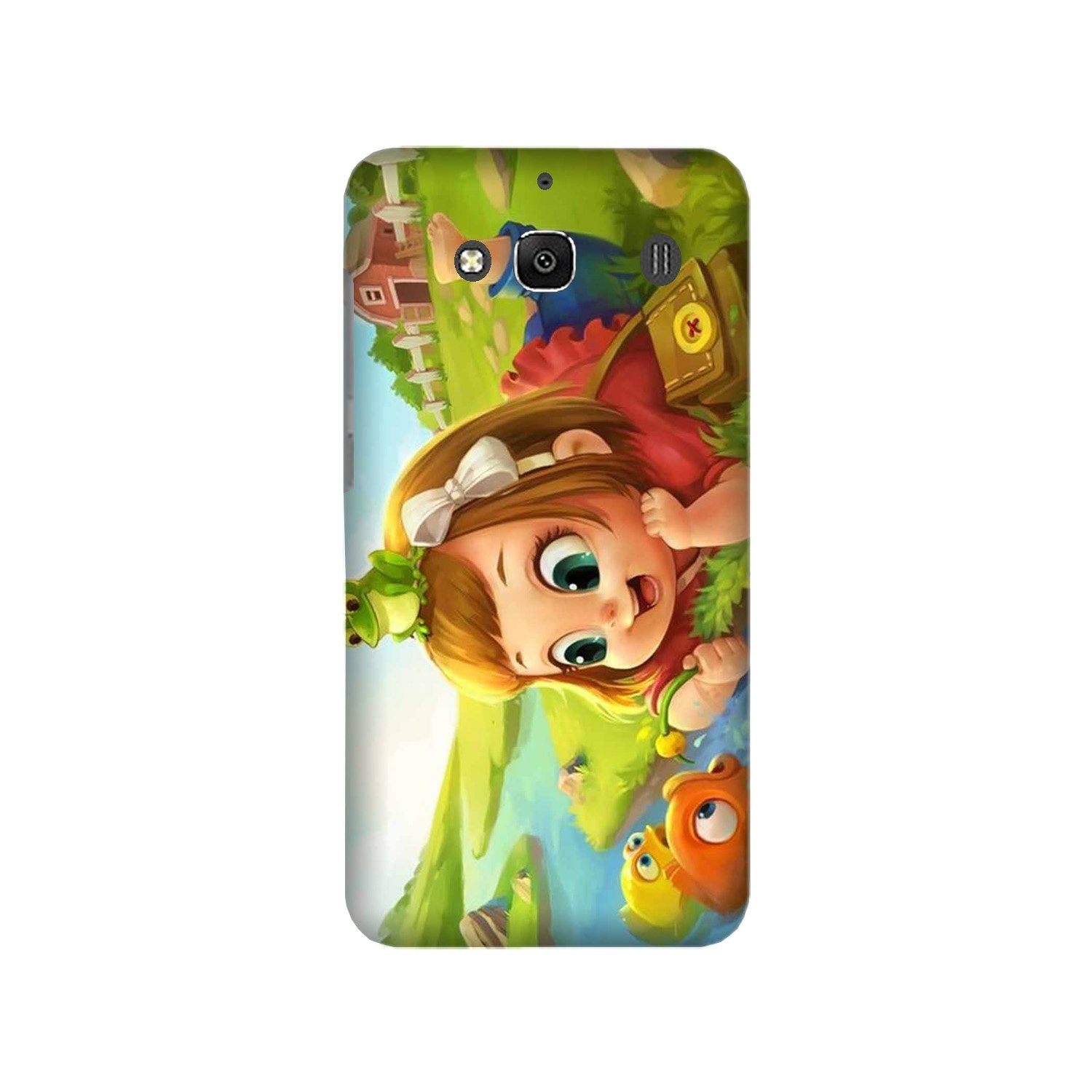 Baby Girl Mobile Back Case for Redmi 2 Prime  (Design - 339)