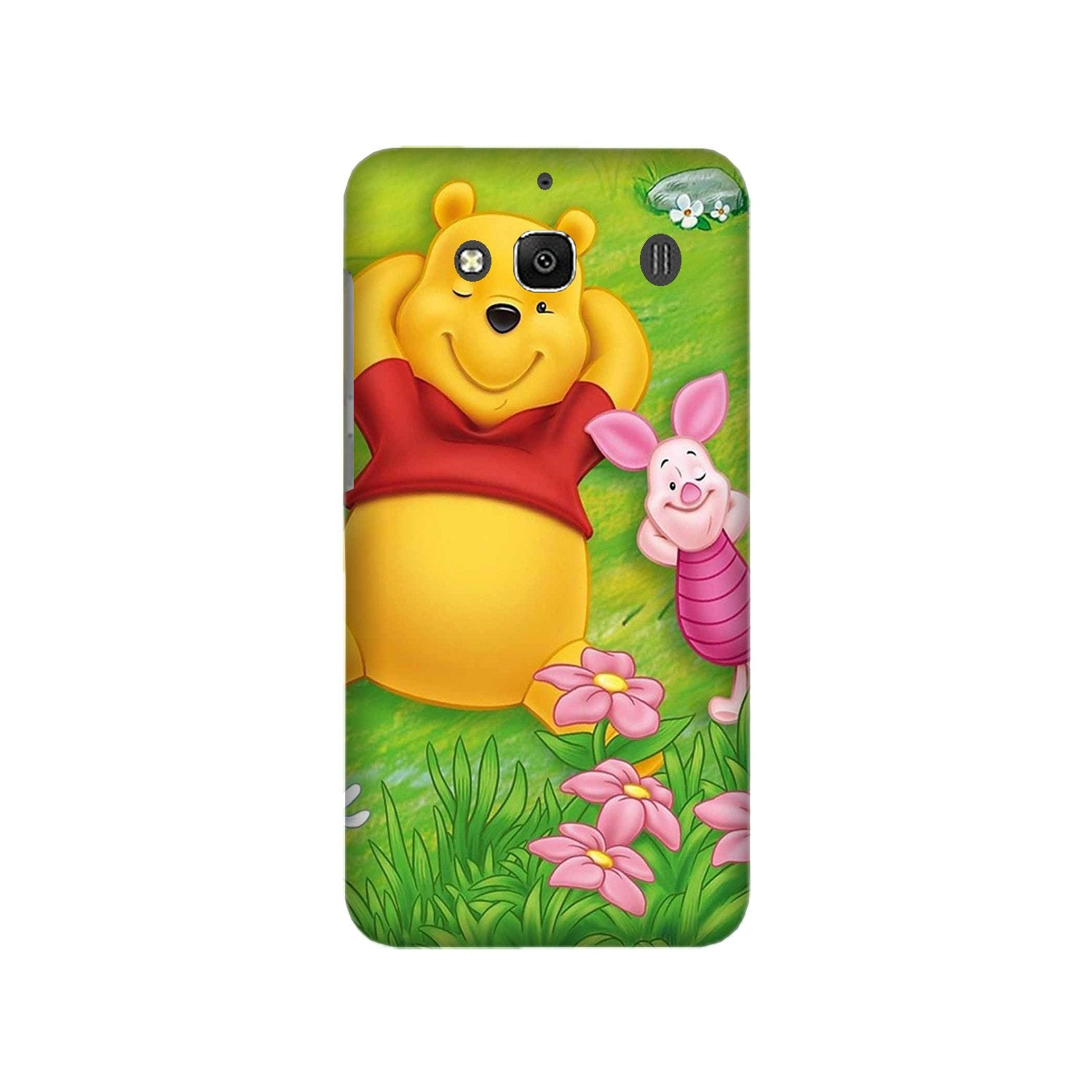 Winnie The Pooh Mobile Back Case for Redmi 2 Prime  (Design - 348)