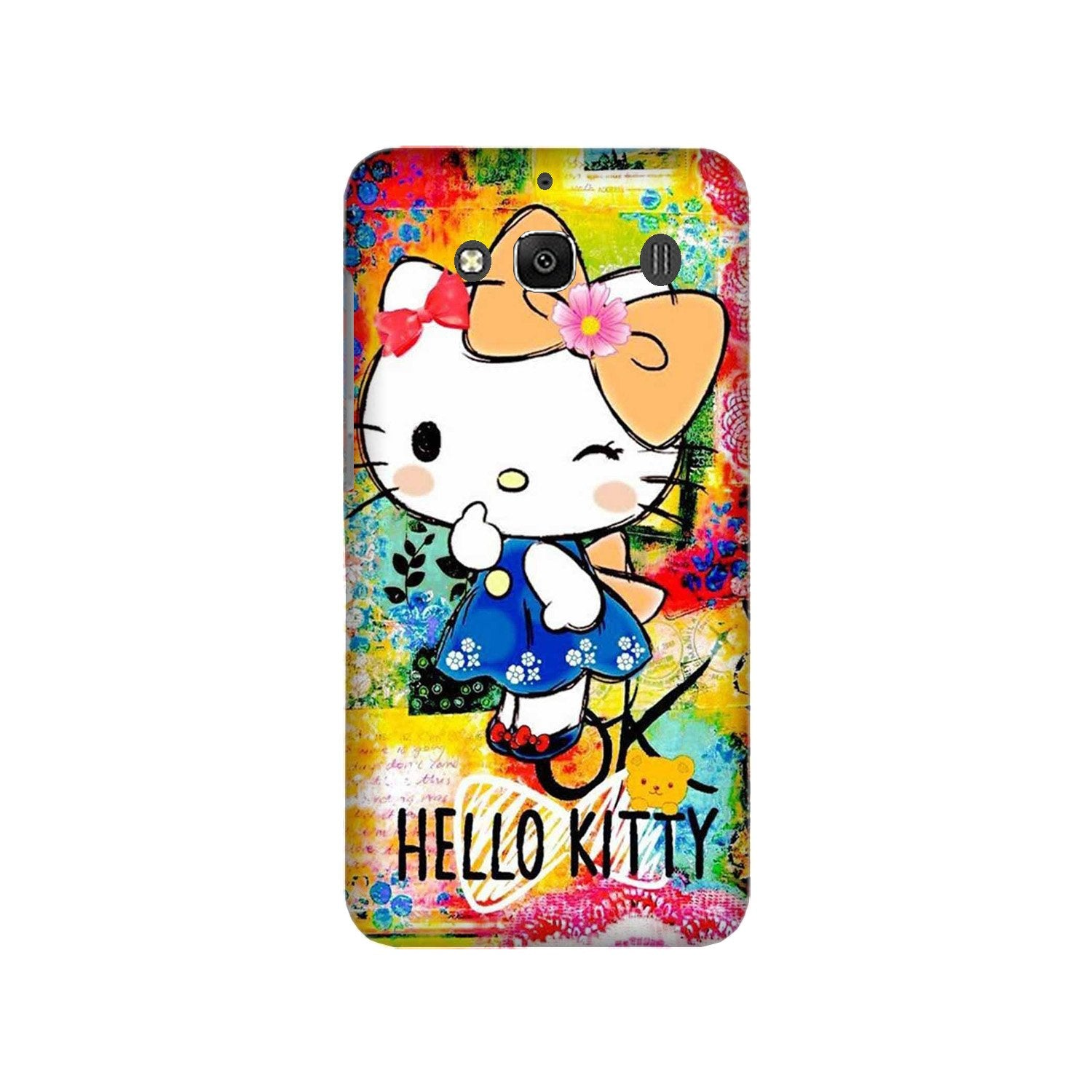 Hello Kitty Mobile Back Case for Redmi 2 Prime  (Design - 362)
