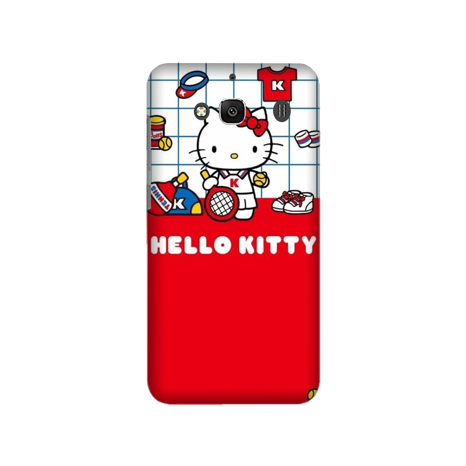 Hello Kitty Mobile Back Case for Redmi 2 Prime  (Design - 363)