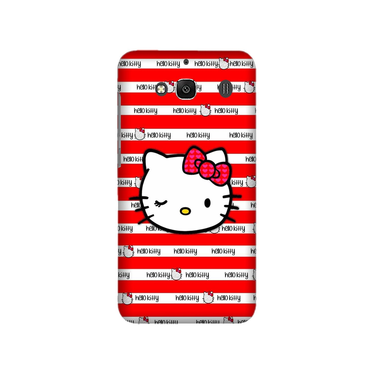 Hello Kitty Mobile Back Case for Redmi 2 Prime  (Design - 364)