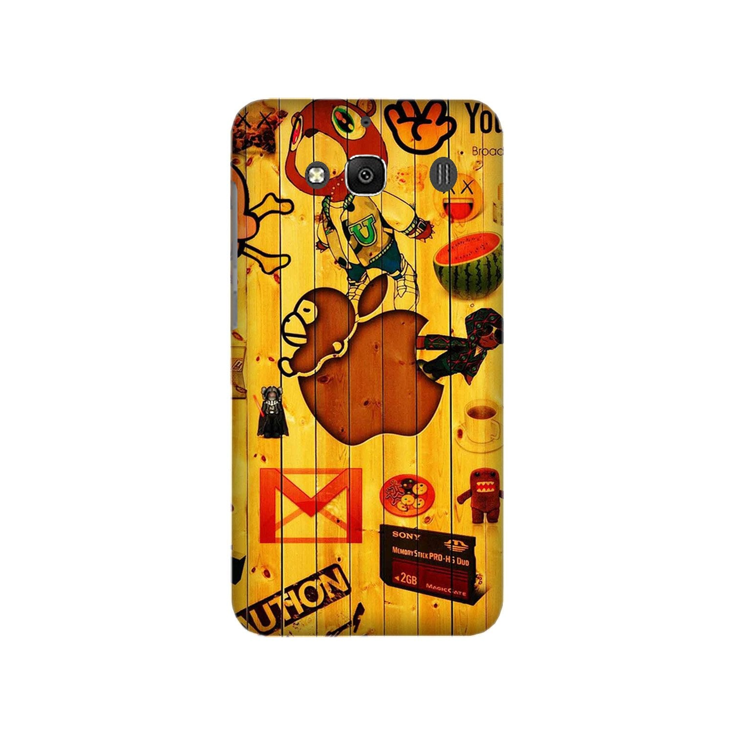 Wooden Texture Mobile Back Case for Redmi 2 Prime  (Design - 367)