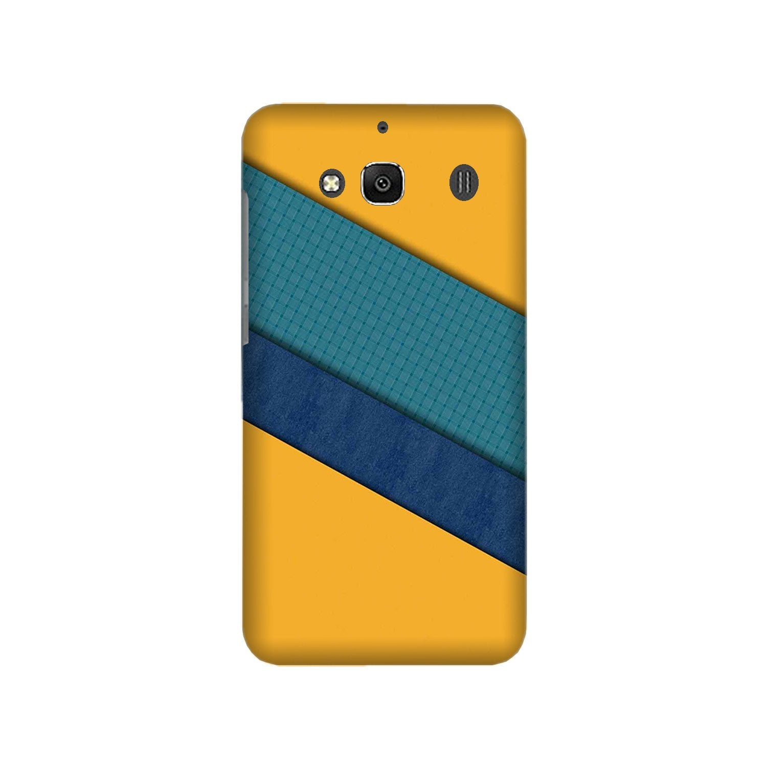 Diagonal Pattern Mobile Back Case for Redmi 2 Prime  (Design - 370)