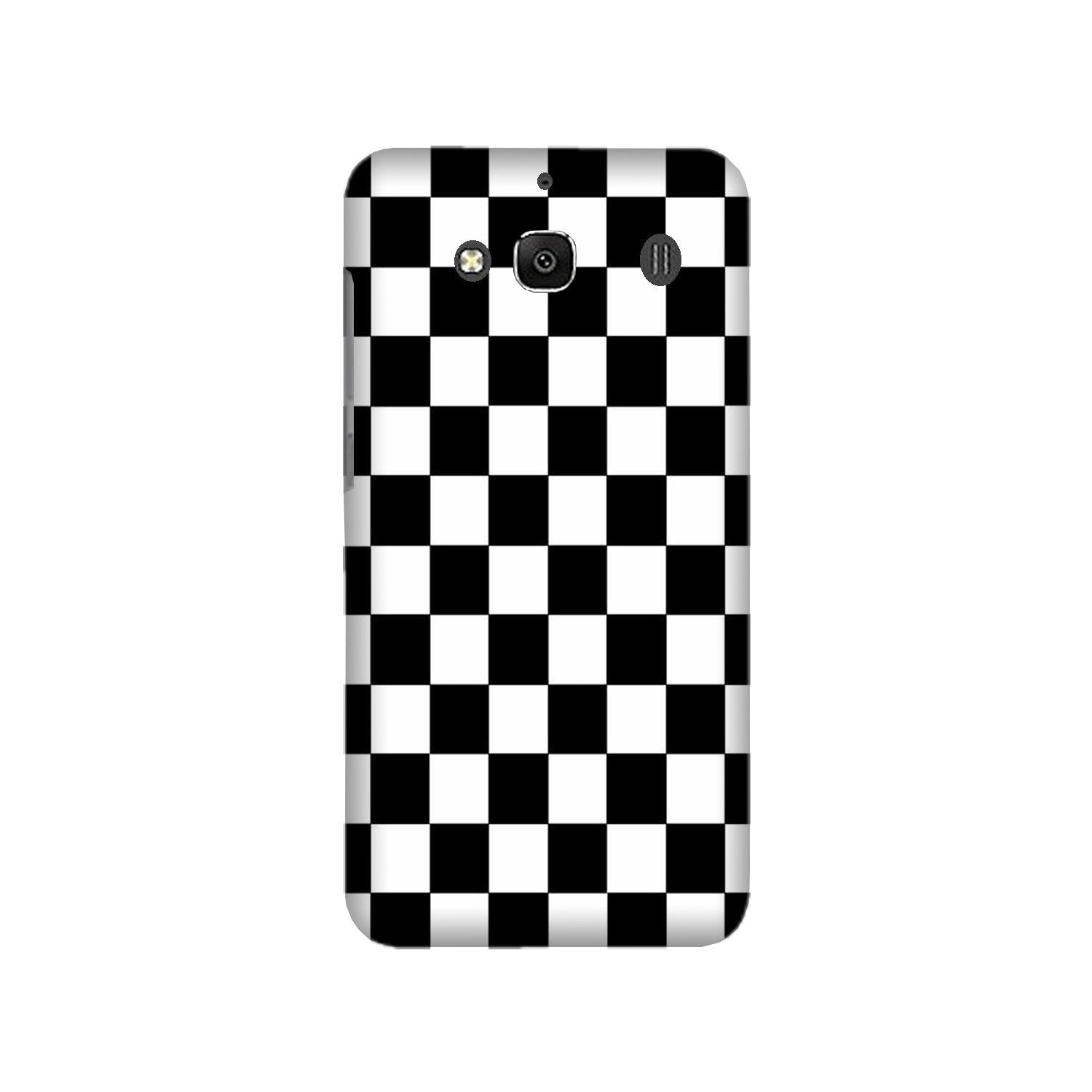 Black White Boxes Mobile Back Case for Redmi 2 Prime  (Design - 372)