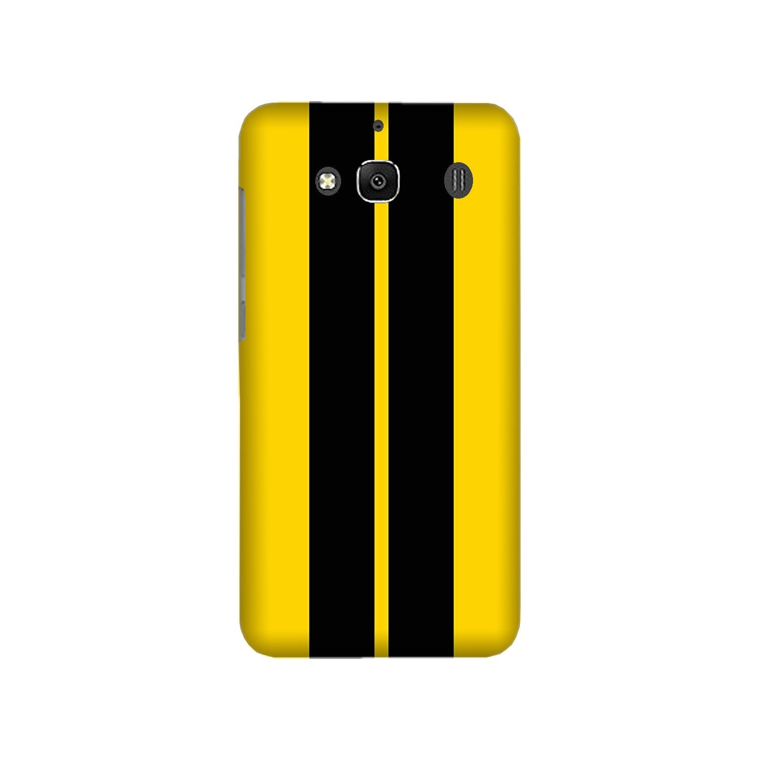 Black Yellow Pattern Mobile Back Case for Redmi 2 Prime  (Design - 377)