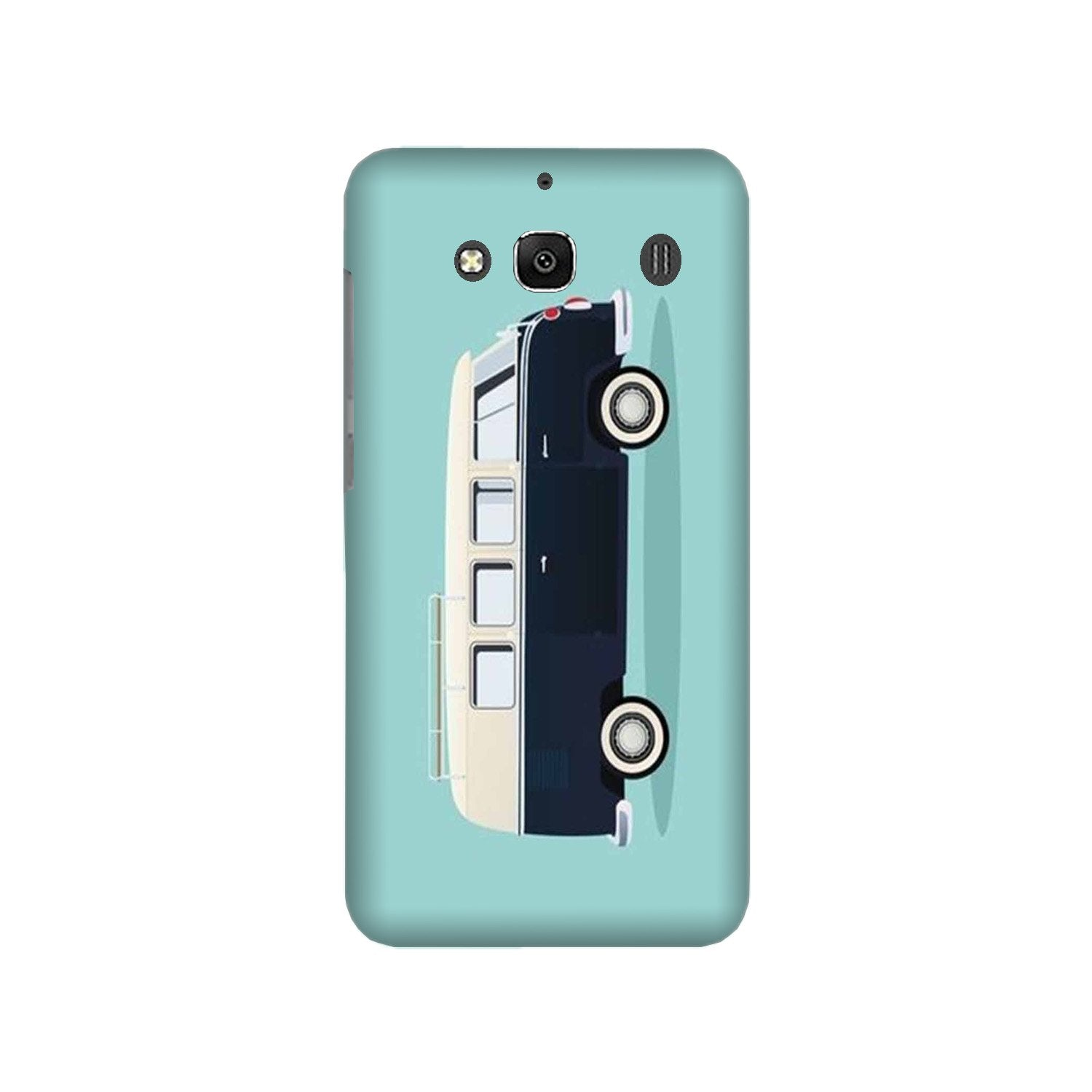 Travel Bus Mobile Back Case for Redmi 2 Prime  (Design - 379)