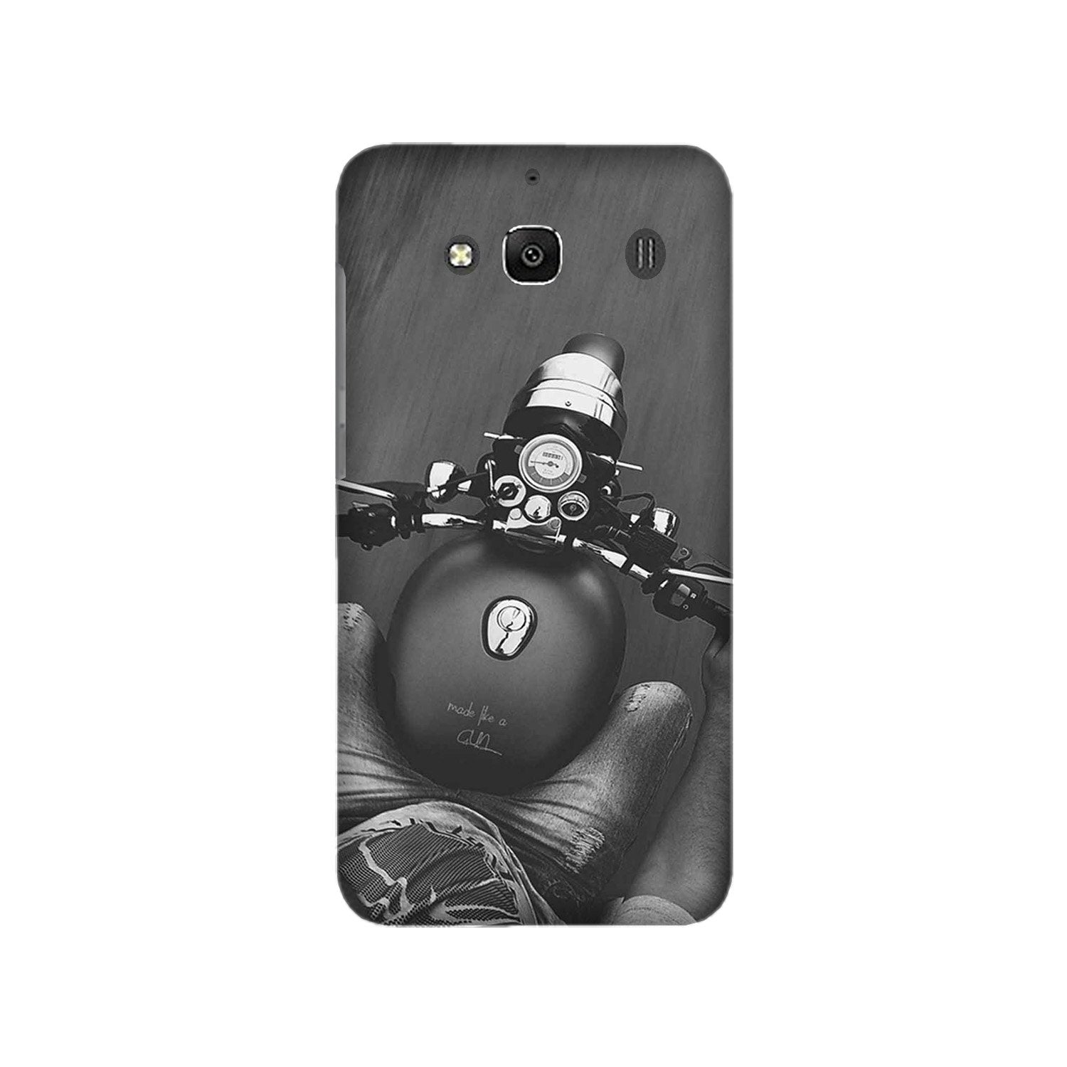 Royal Enfield Mobile Back Case for Redmi 2 Prime  (Design - 382)
