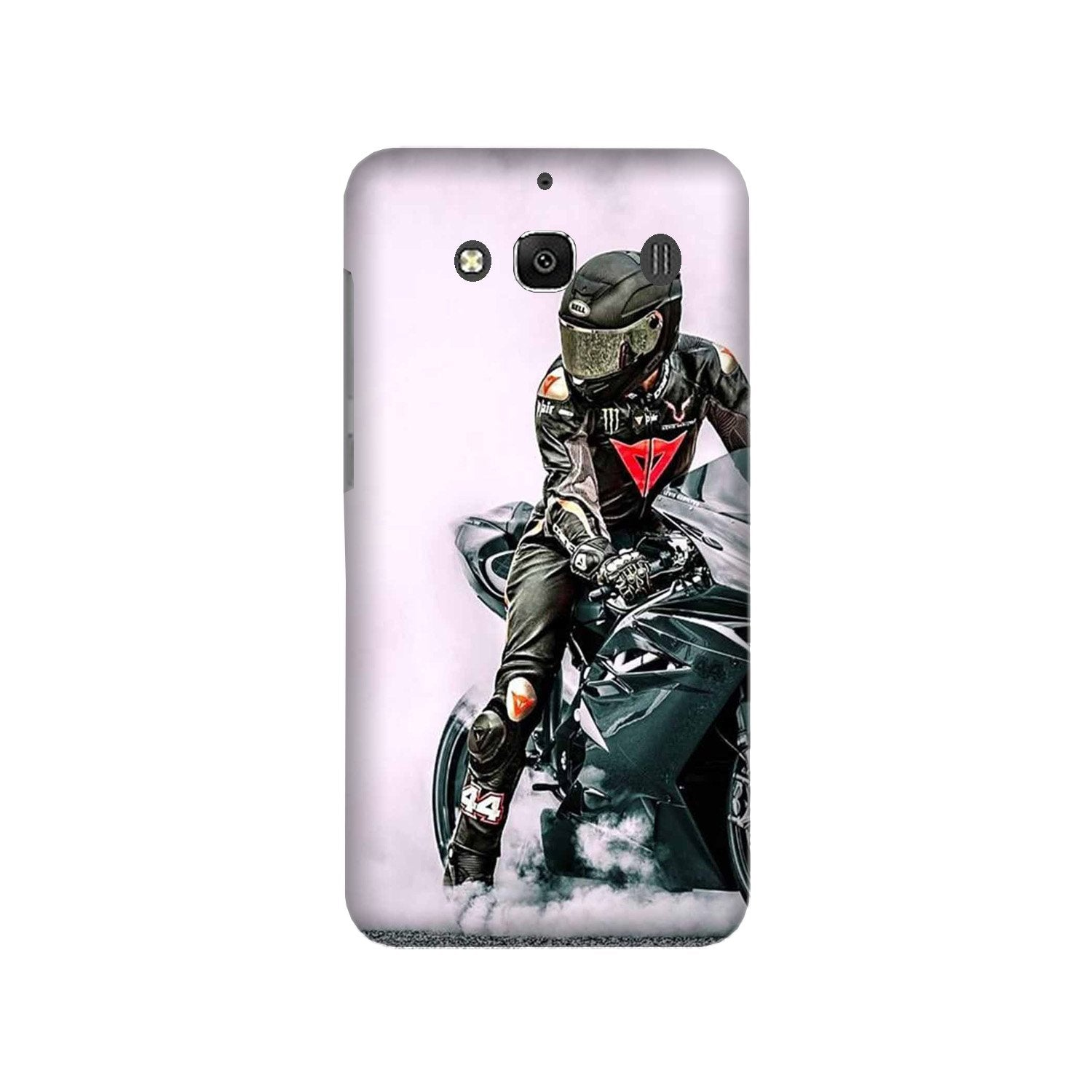 Biker Mobile Back Case for Redmi 2 Prime  (Design - 383)