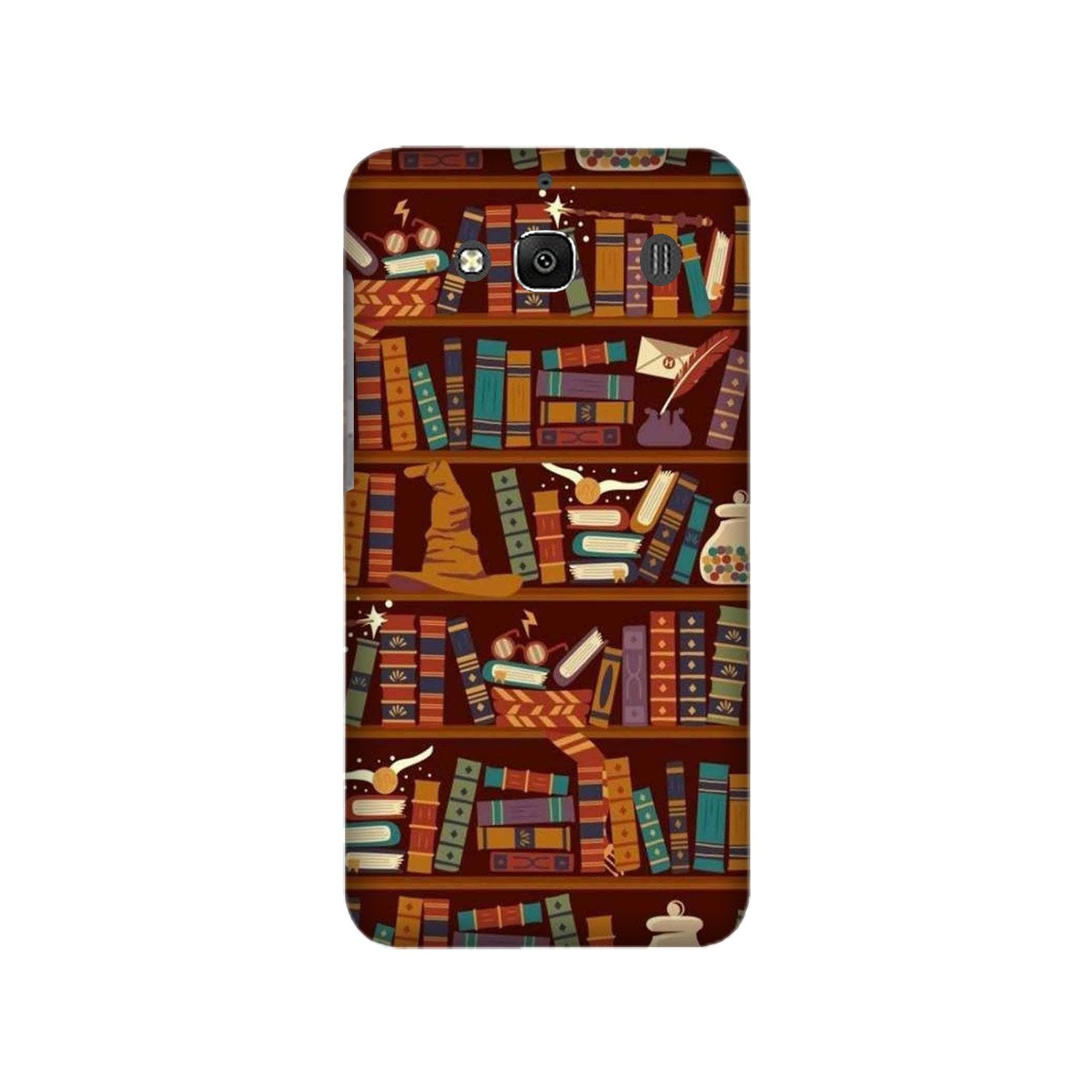 Book Shelf Mobile Back Case for Redmi 2 Prime  (Design - 390)