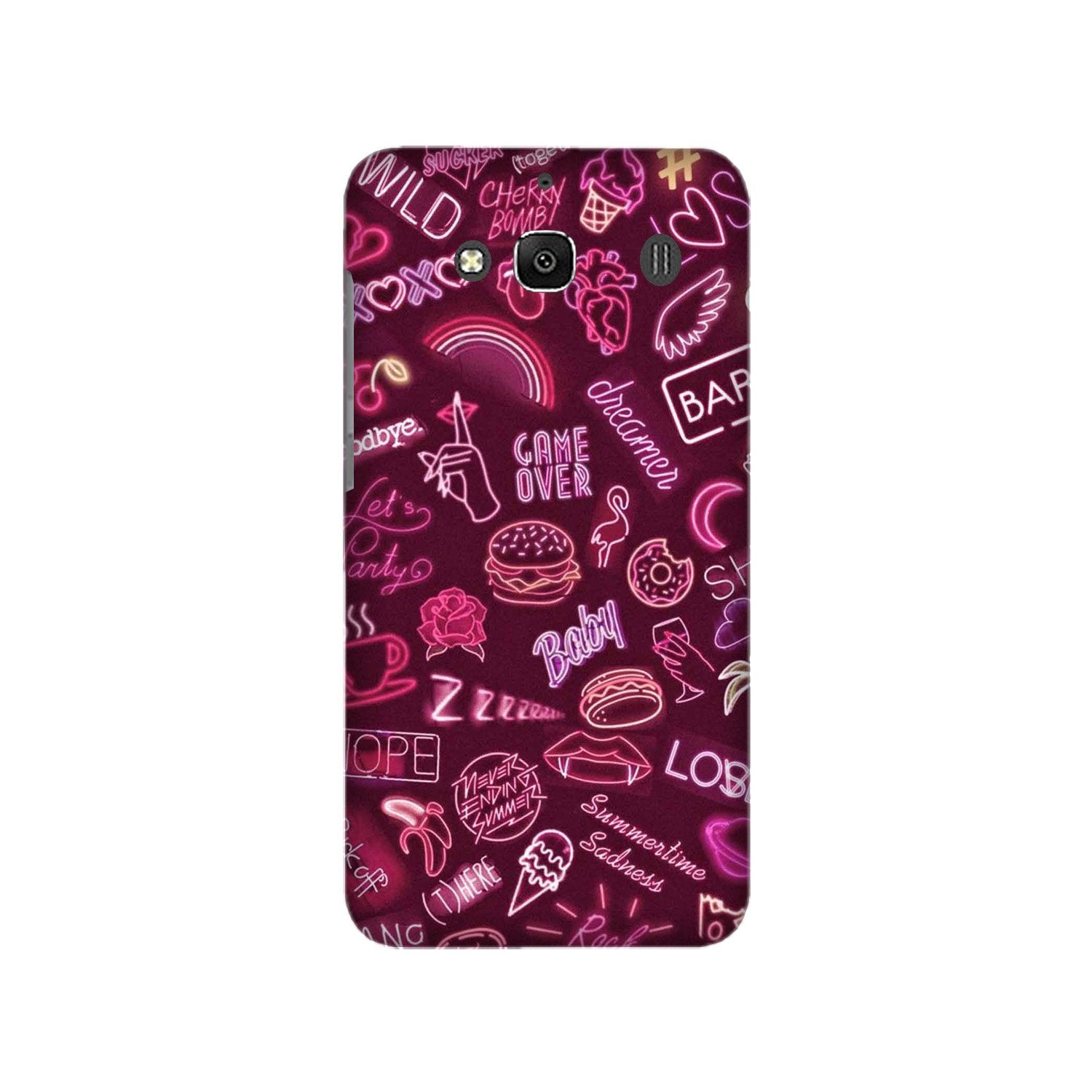 Party Theme Mobile Back Case for Redmi 2 Prime  (Design - 392)