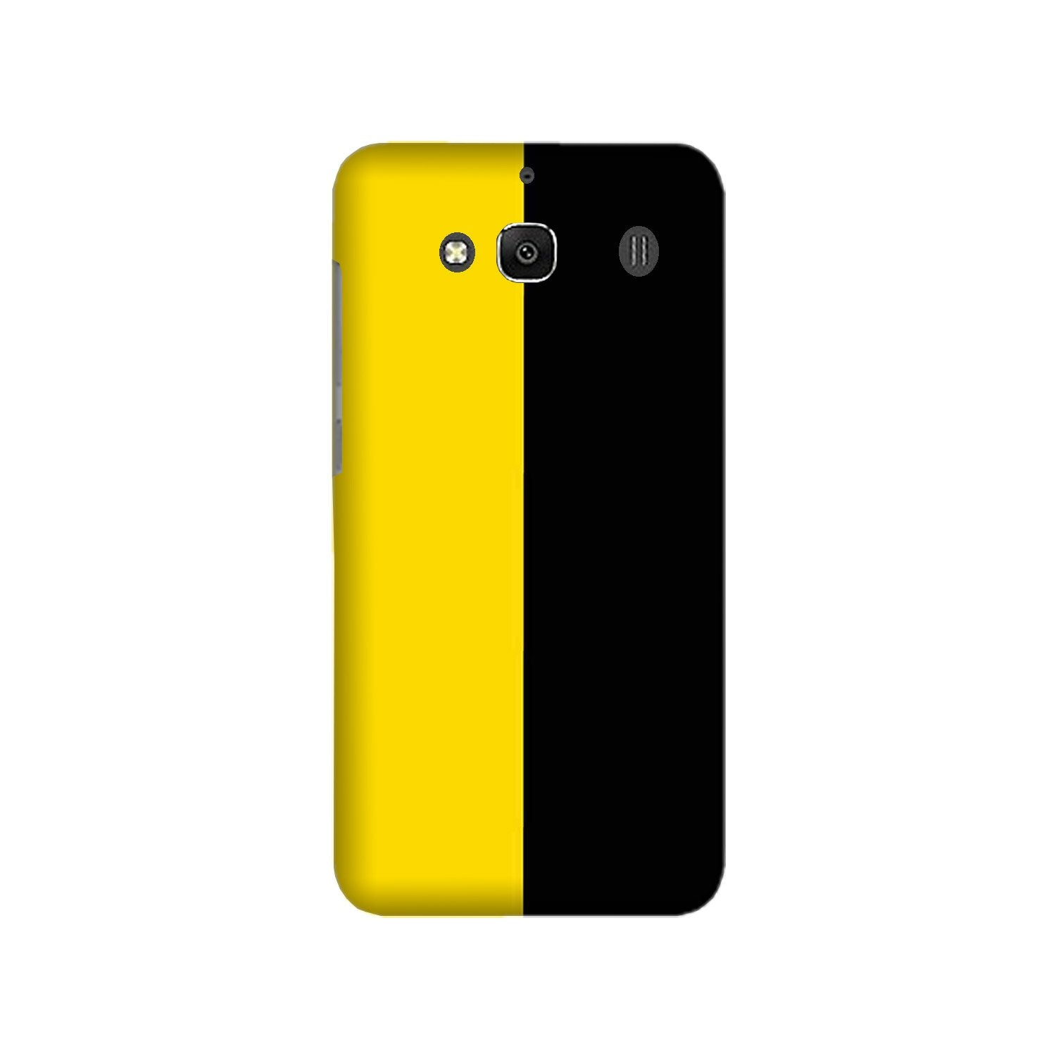 Black Yellow Pattern Mobile Back Case for Redmi 2 Prime  (Design - 397)