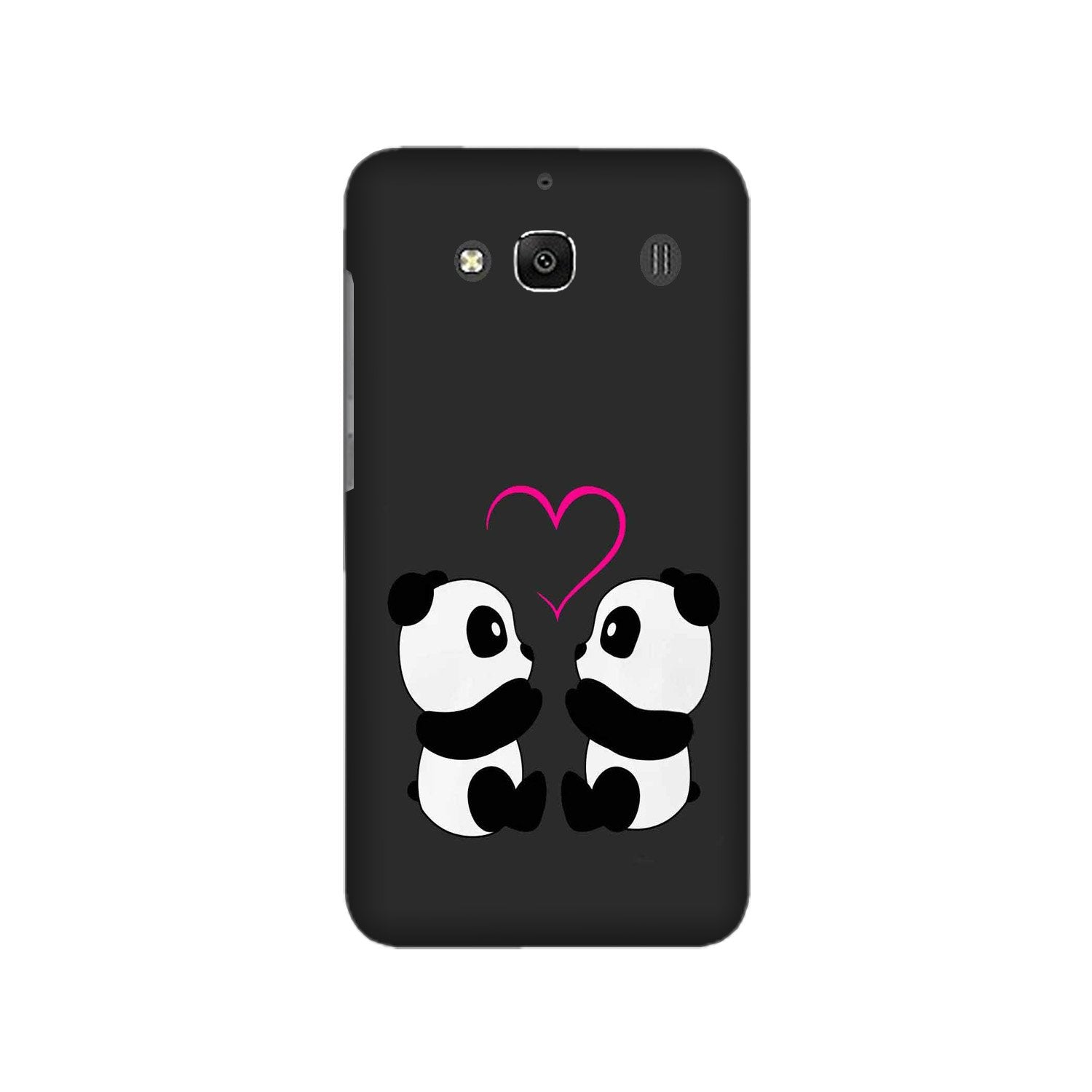 Panda Love Mobile Back Case for Redmi 2 Prime  (Design - 398)