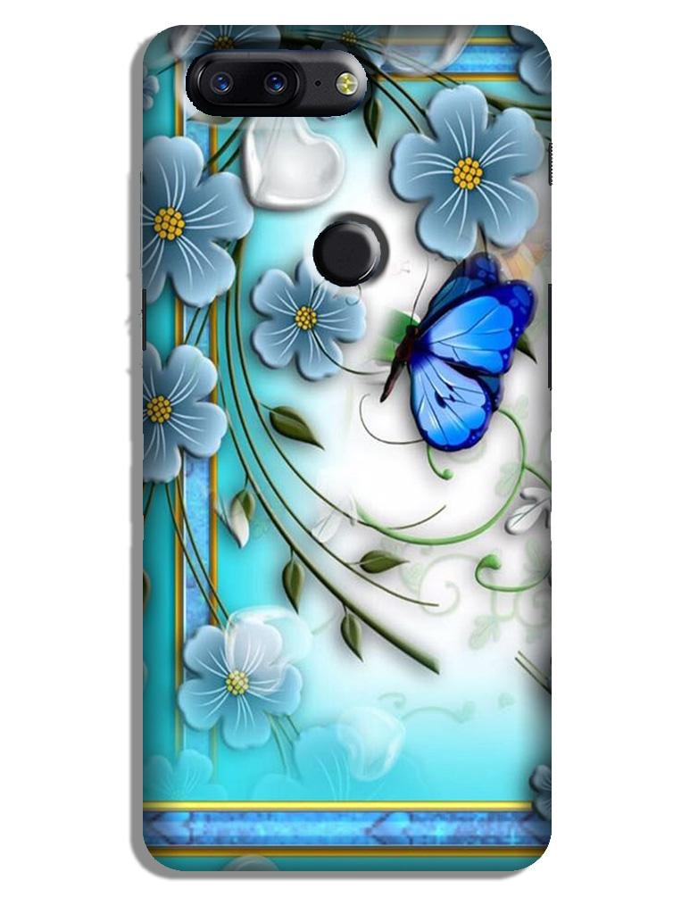 Blue Butterfly Case for OnePlus 5T