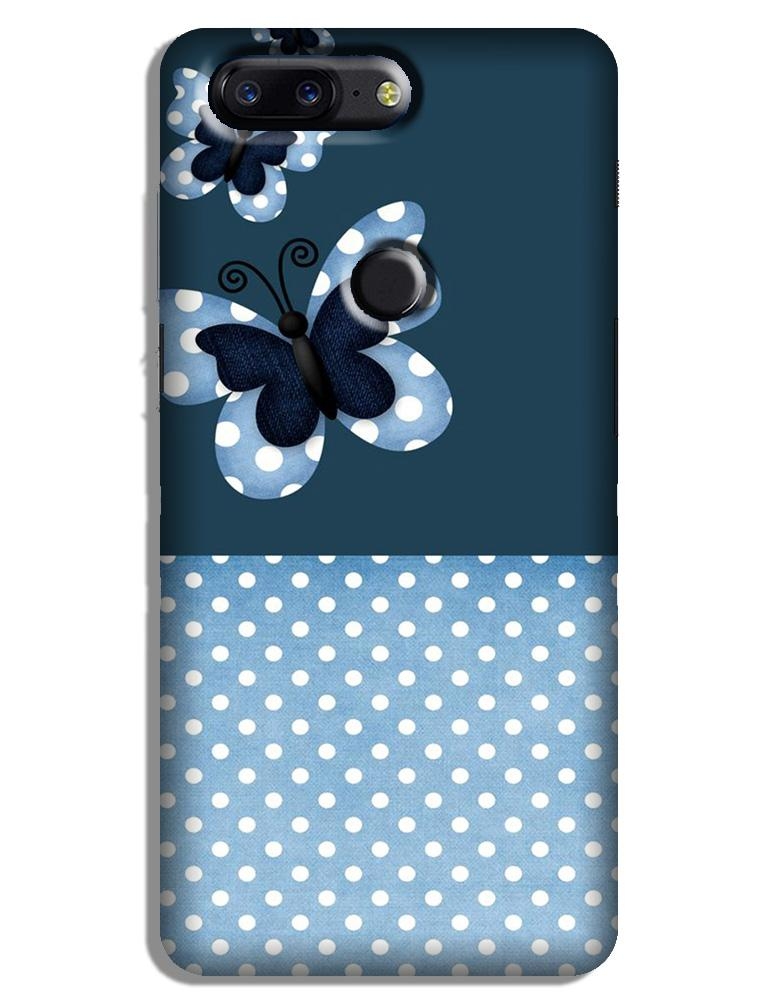 White dots Butterfly Case for OnePlus 5T