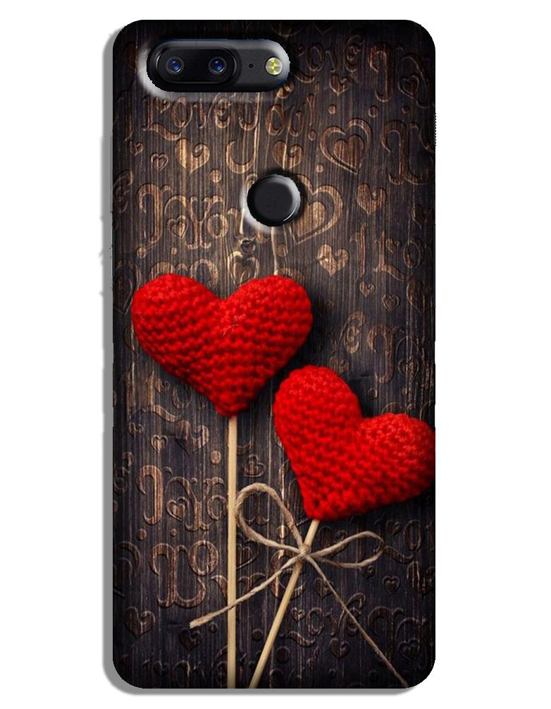 Red Hearts Case for OnePlus 5T