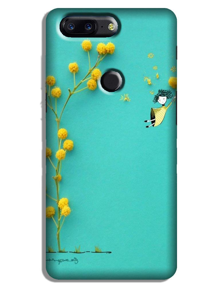 Flowers Girl Case for OnePlus 5T (Design No. 216)