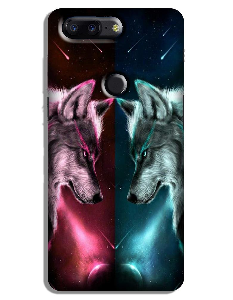 Wolf fight Case for OnePlus 5T (Design No. 221)