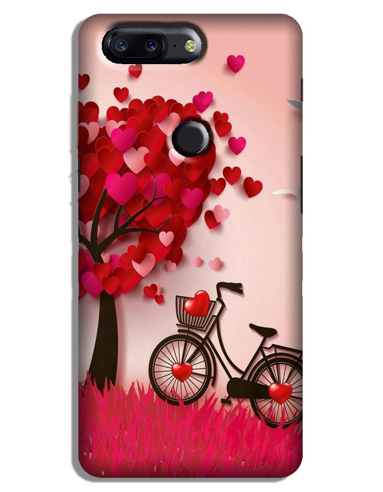 Red Heart Cycle Case for OnePlus 5T (Design No. 222)