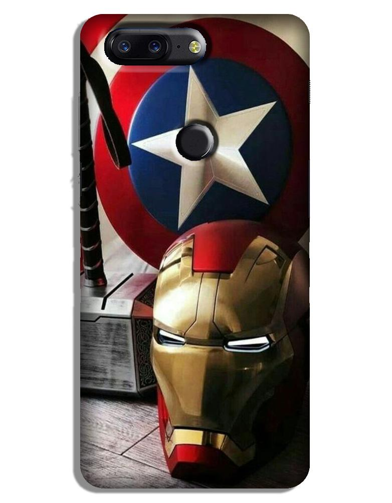 Ironman Captain America Case for OnePlus 5T (Design No. 254)