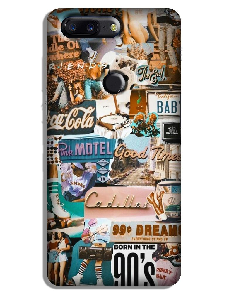 Vintage Design Case for OnePlus 5T (Design No. 284)