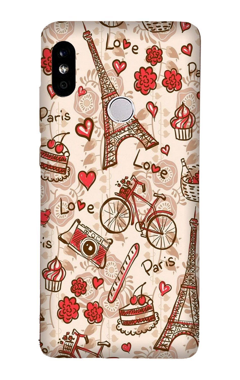 Love Paris Case for Xiaomi Redmi Y3  (Design - 103)