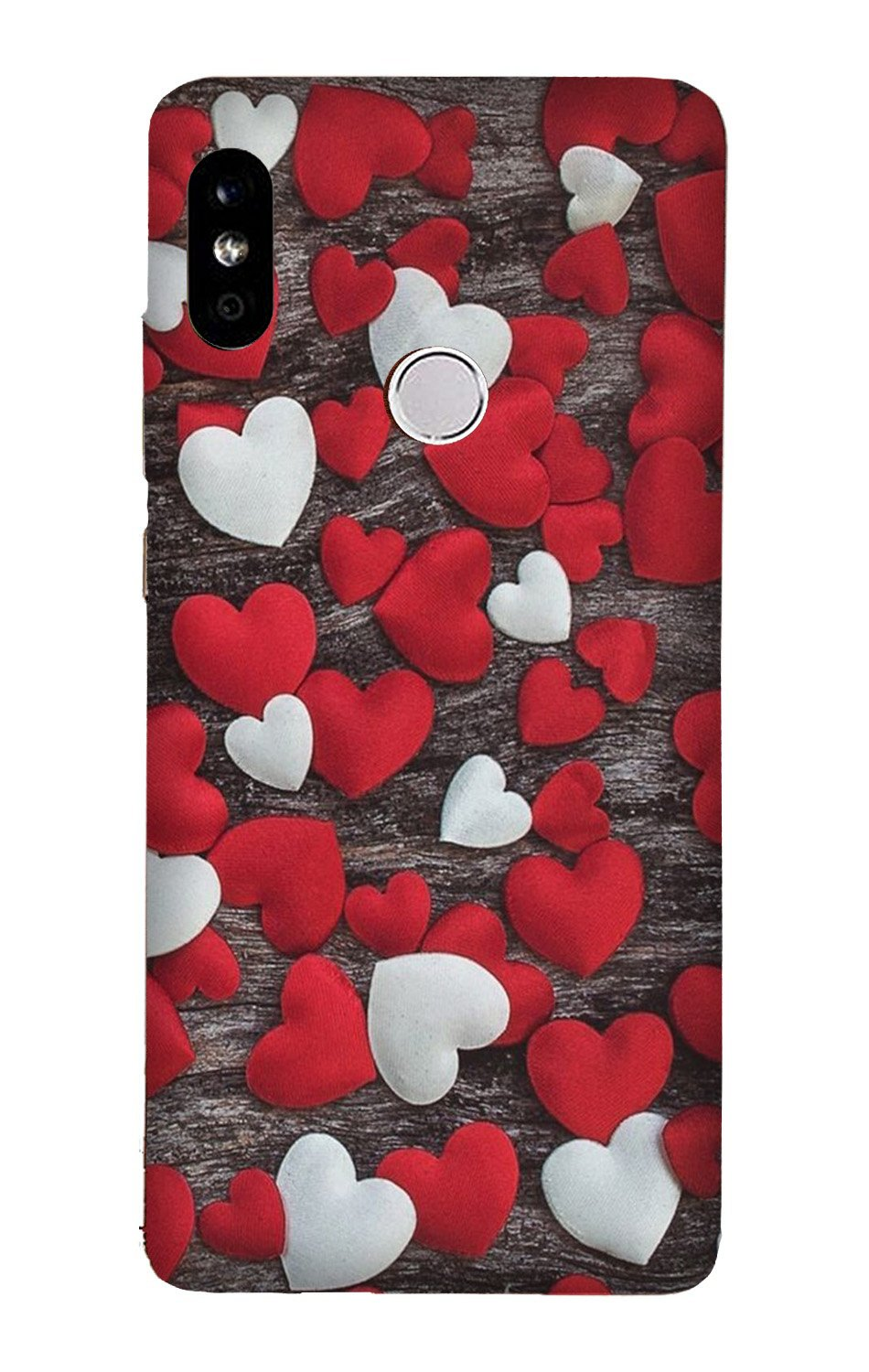 Red White Hearts Case for Xiaomi Redmi Y3  (Design - 105)