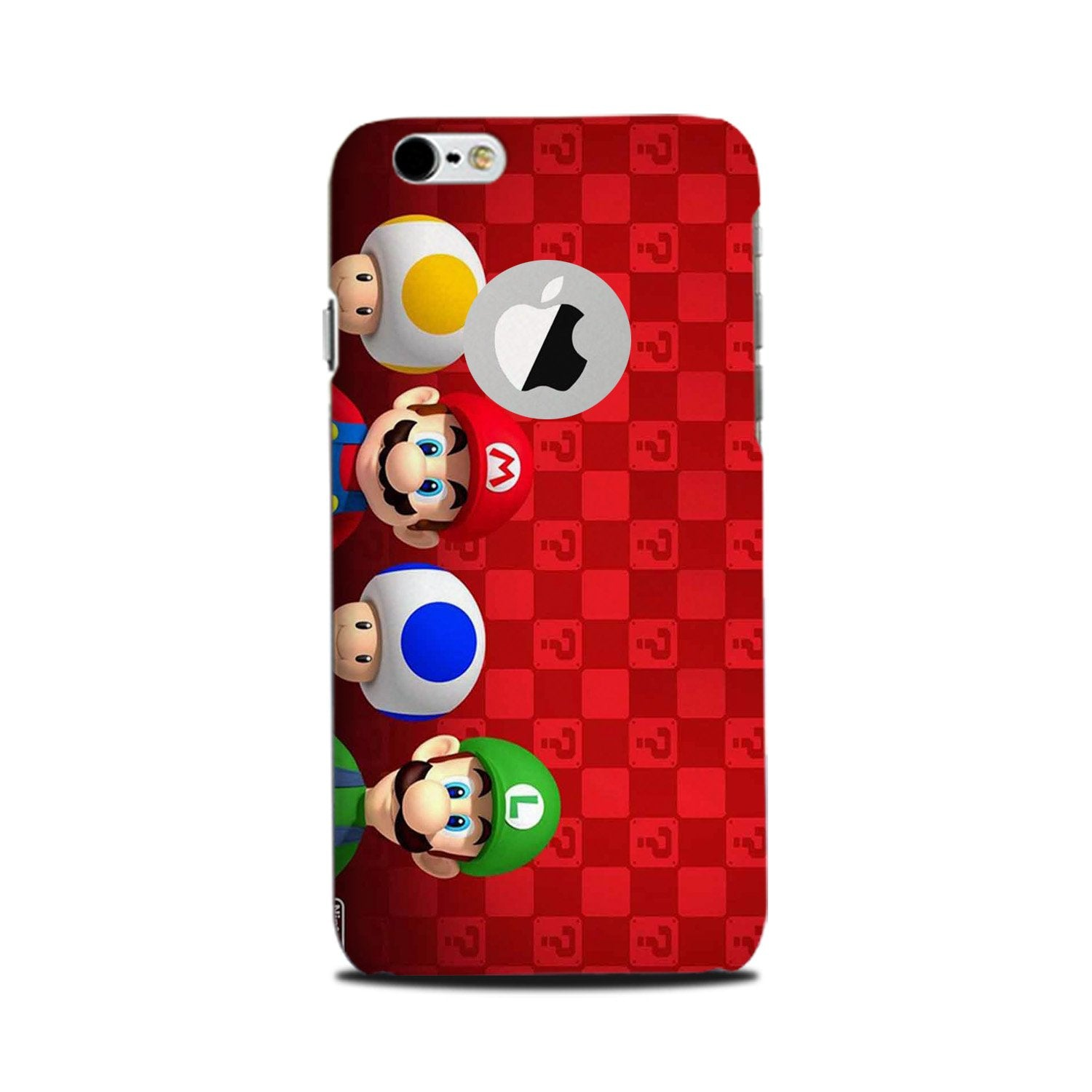 Mario Mobile Back Case for iPhone 6 Plus / 6s Plus Logo Cut  (Design - 337)
