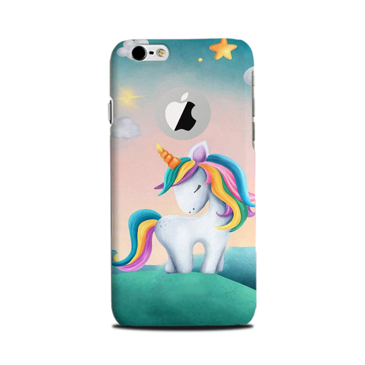 Unicorn Mobile Back Case for iPhone 6 Plus / 6s Plus Logo Cut  (Design - 366)