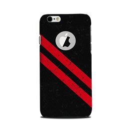 Black Red Pattern Mobile Back Case for iPhone 6 Plus / 6s Plus Logo Cut  (Design - 373)