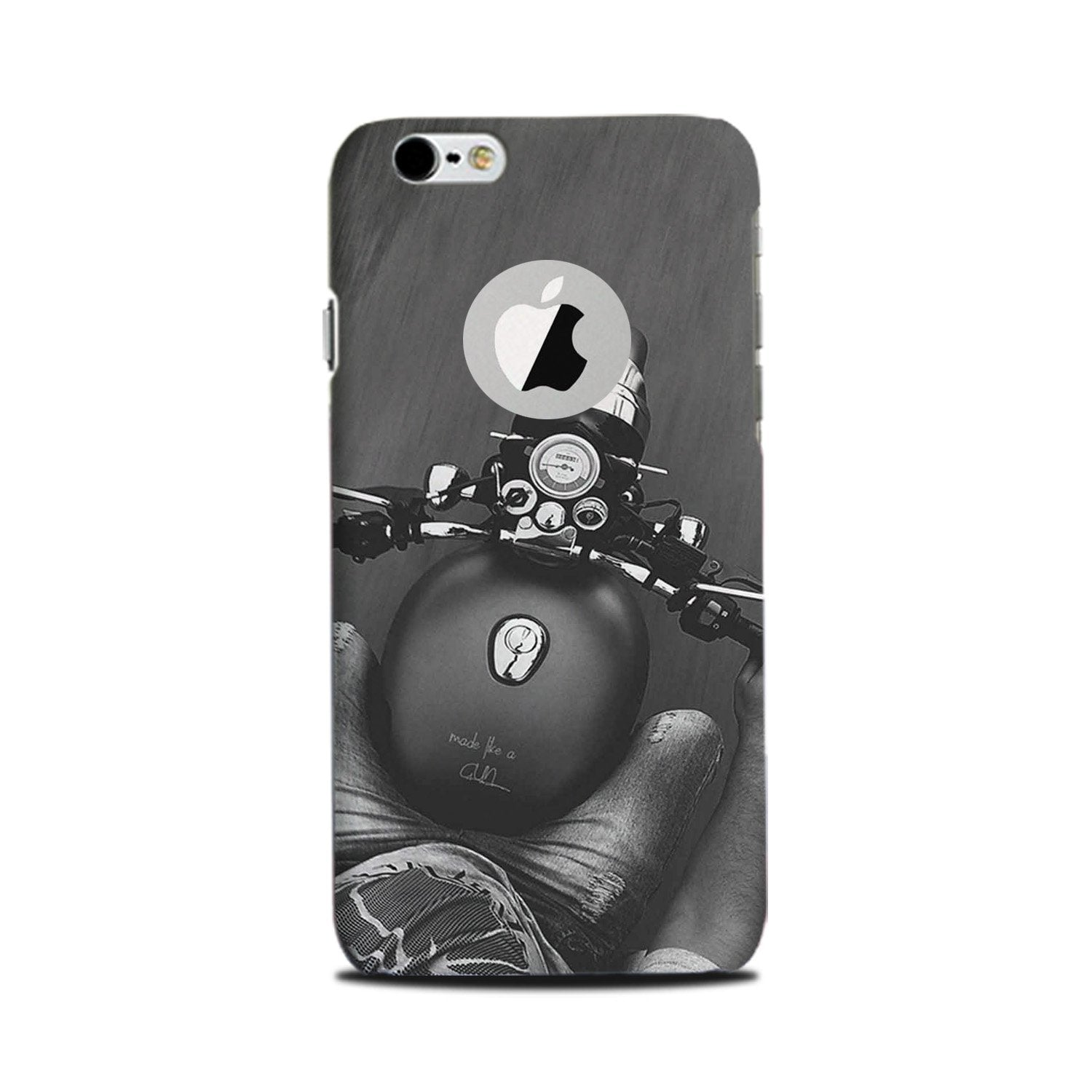 Royal Enfield Mobile Back Case for iPhone 6 Plus / 6s Plus Logo Cut  (Design - 382)