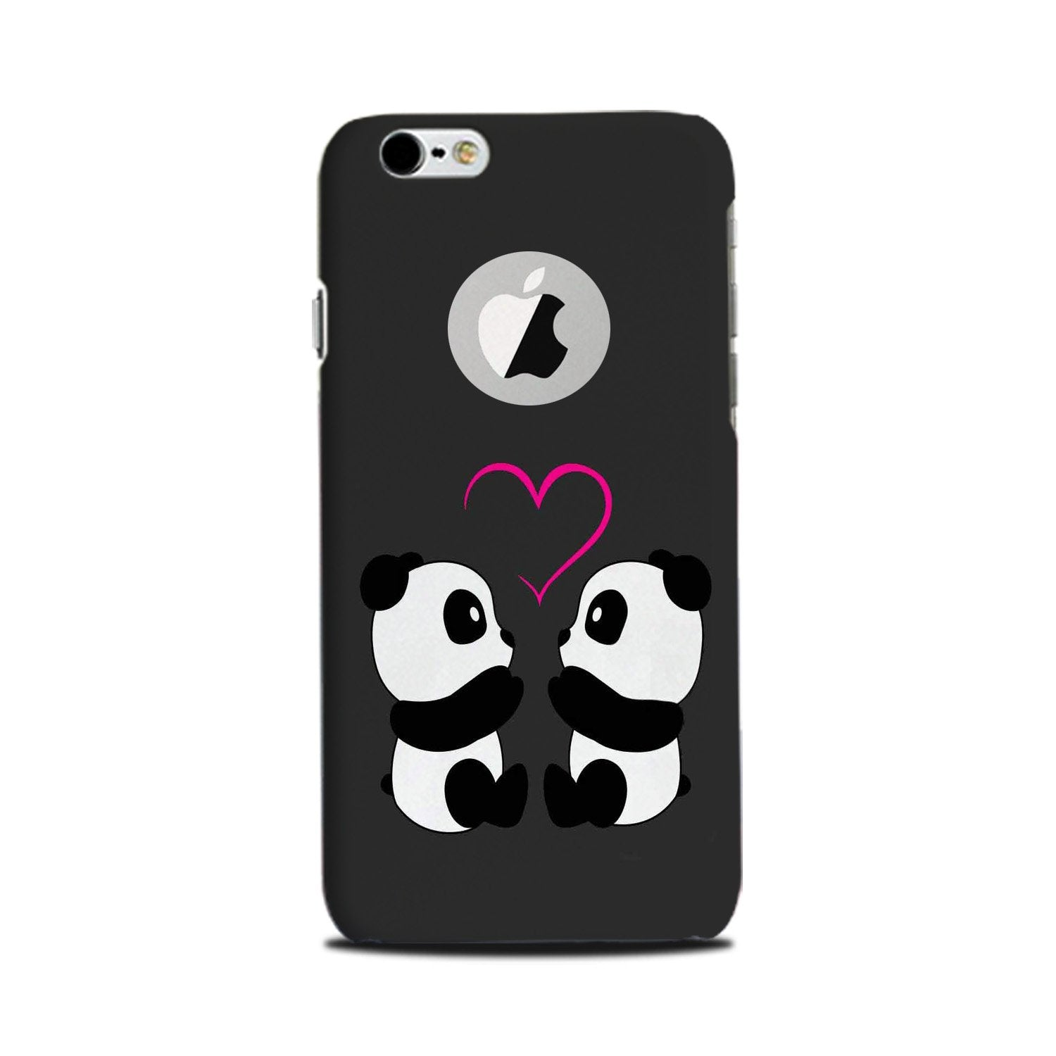 Panda Love Mobile Back Case for iPhone 6 Plus / 6s Plus Logo Cut  (Design - 398)