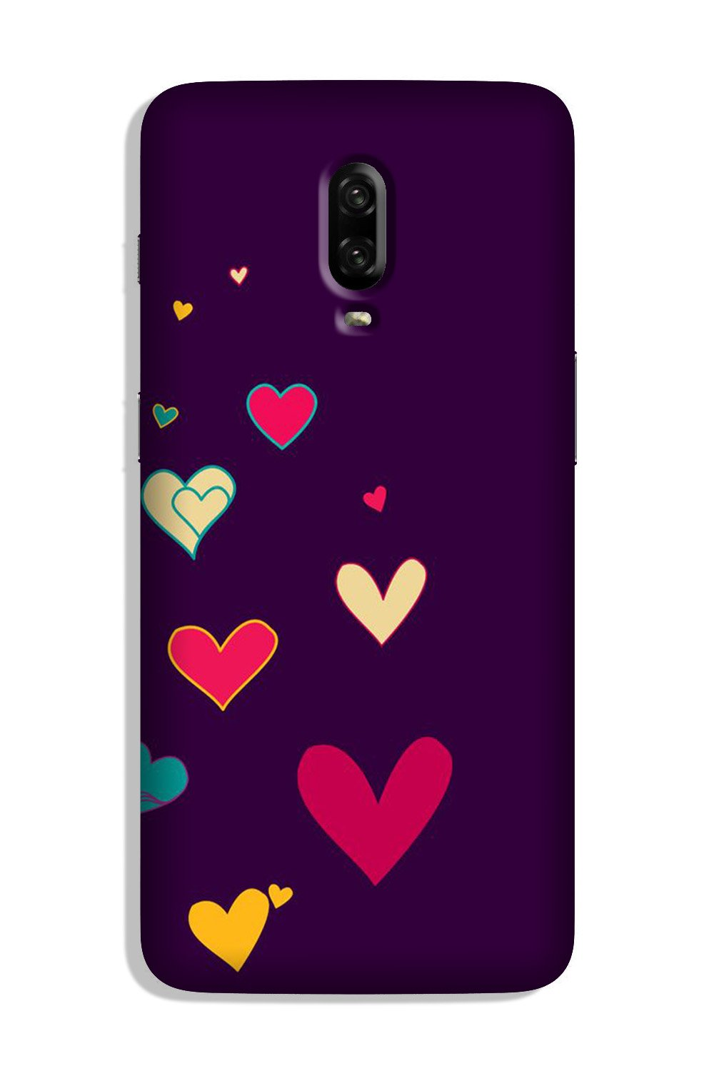 Purple Background Case for OnePlus 6T  (Design - 107)