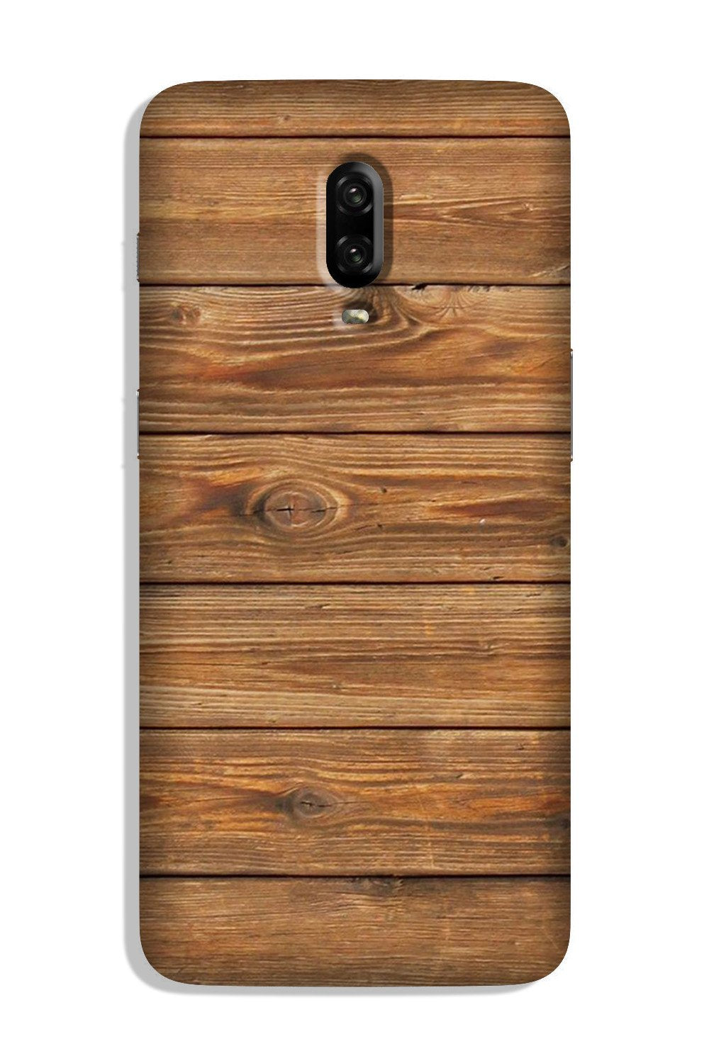 Wooden Look Case for OnePlus 6T  (Design - 113)