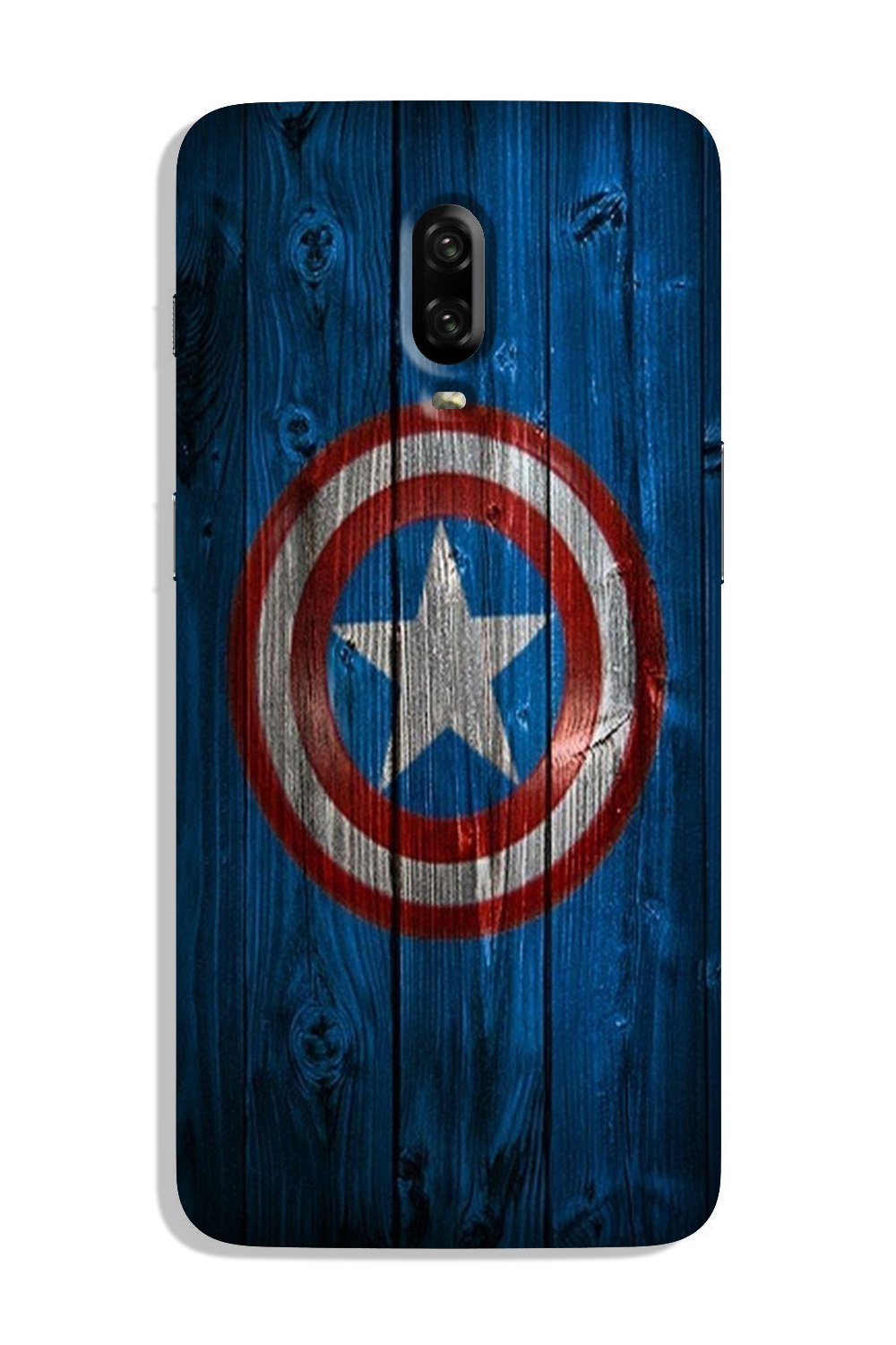 Captain America Superhero Case for OnePlus 6T  (Design - 118)